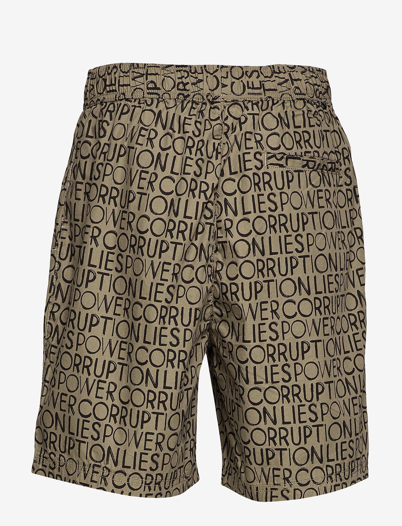 Wood Wood - Hamilton shorts - krótkie spodenki - taupe aop - 1