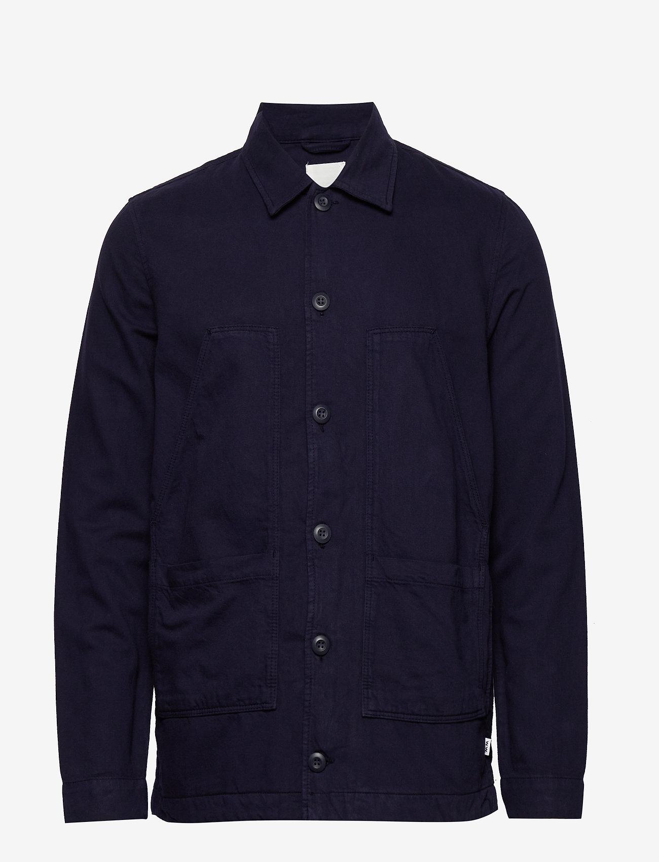 Wood Wood - Fabian shirt - overshirts - navy - 0