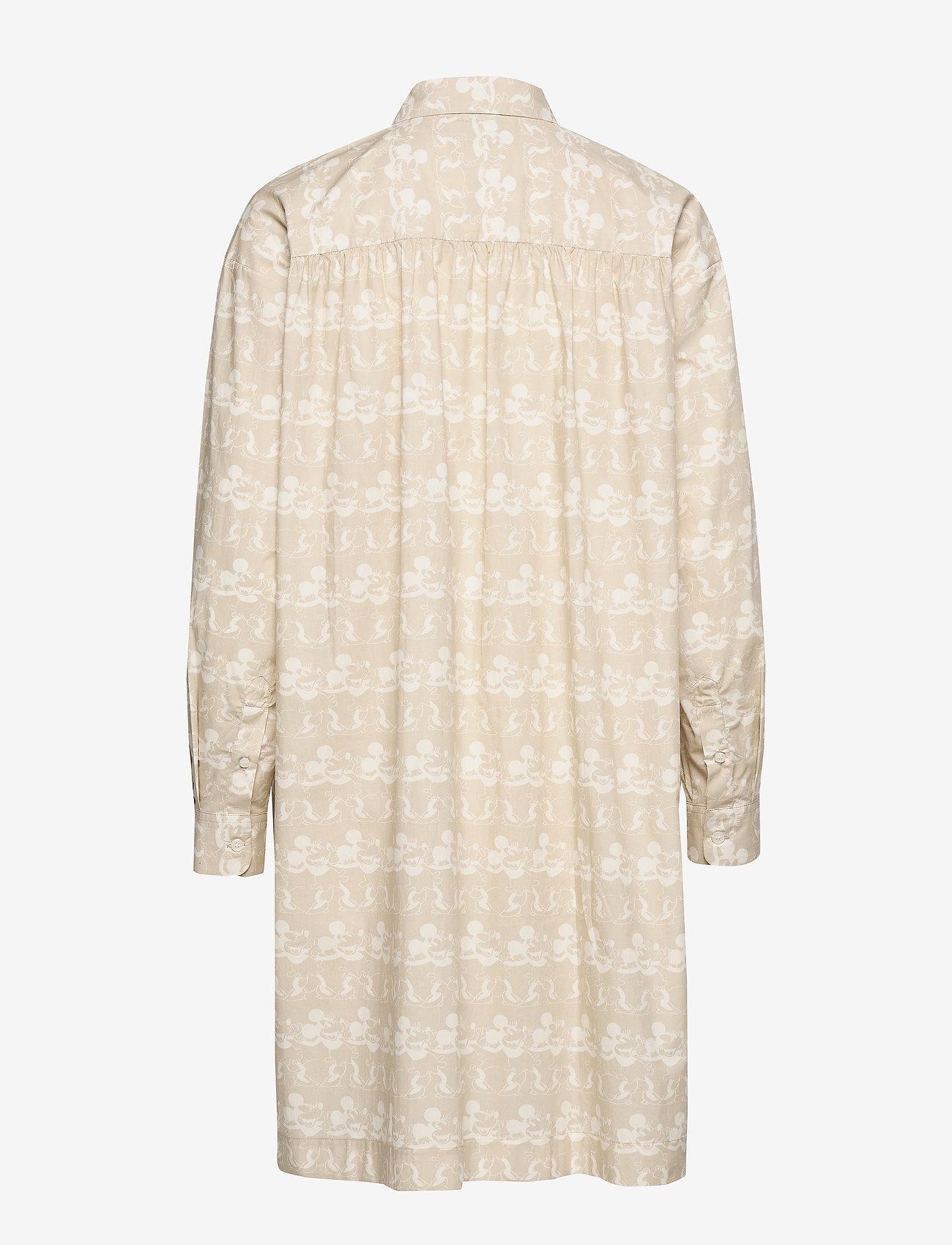 Wood Wood - Janica dress - skjortekjoler - beige aop - 1