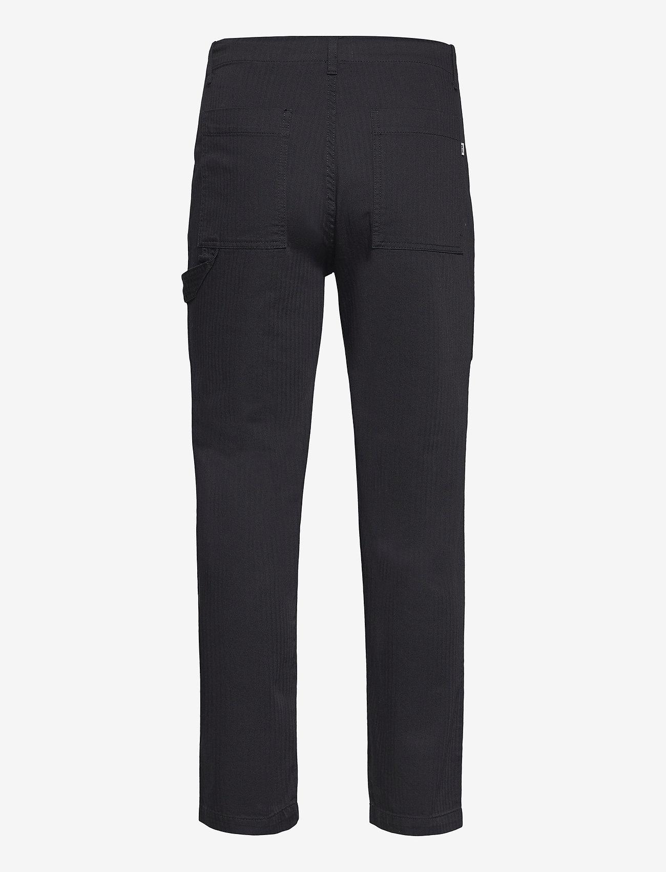 Wood Wood - Halvard trousers - cargobukser - black - 1