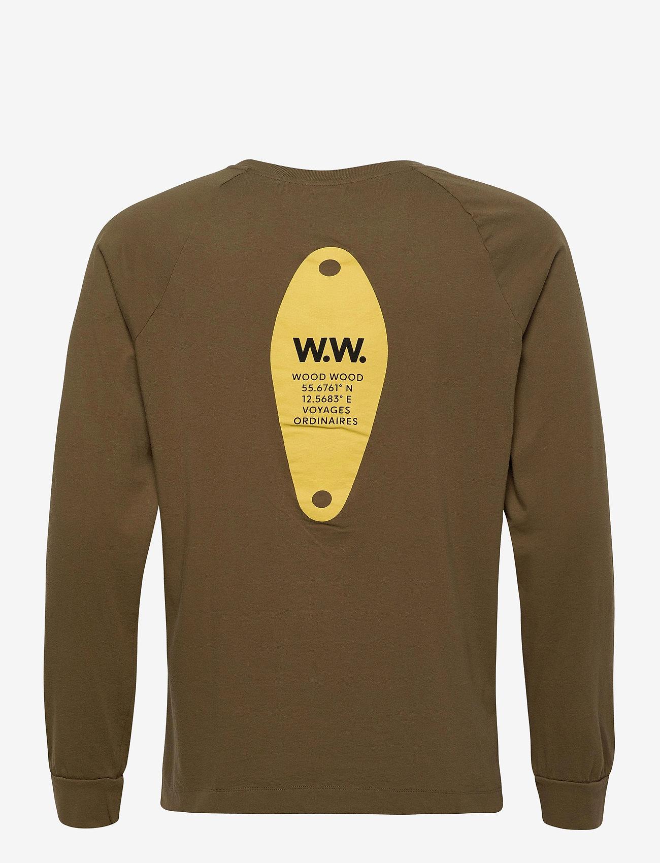 Wood Wood Han long sleeve - T-skjorter DARK GREEN - Menn Klær