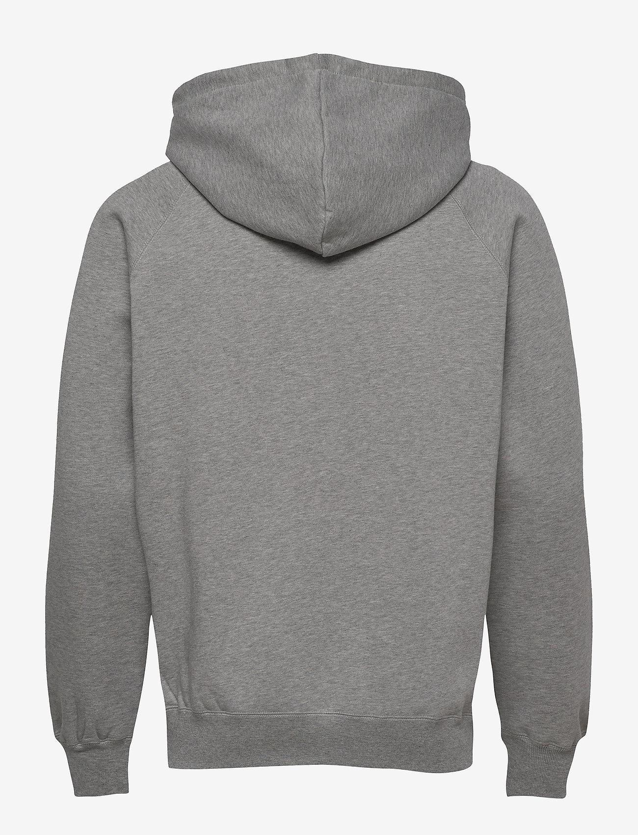 Wood Wood - Fred hoodie - basic sweatshirts - grey melange - 1