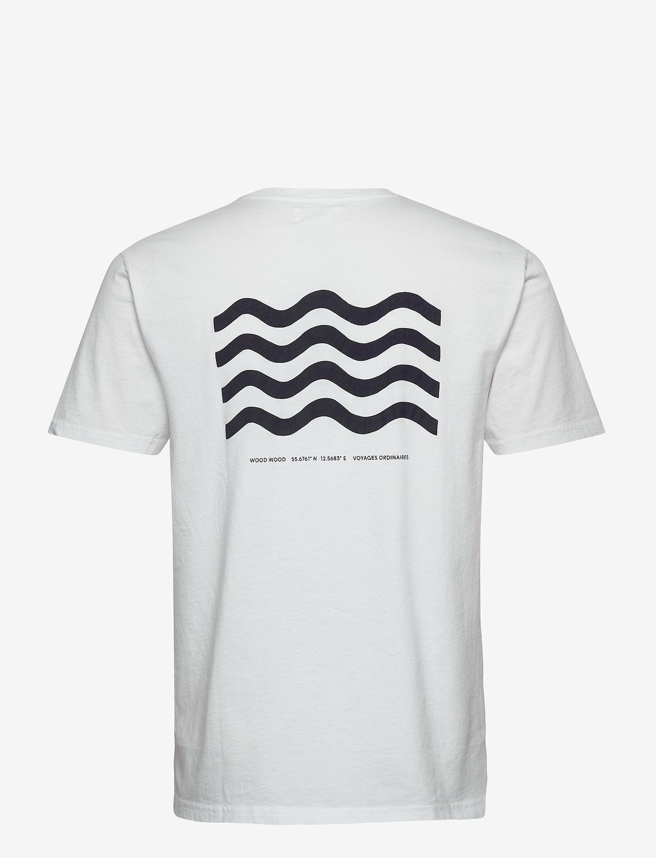 Wood Wood Wave T-shirt - T-skjorter BRIGHT WHITE - Menn Klær
