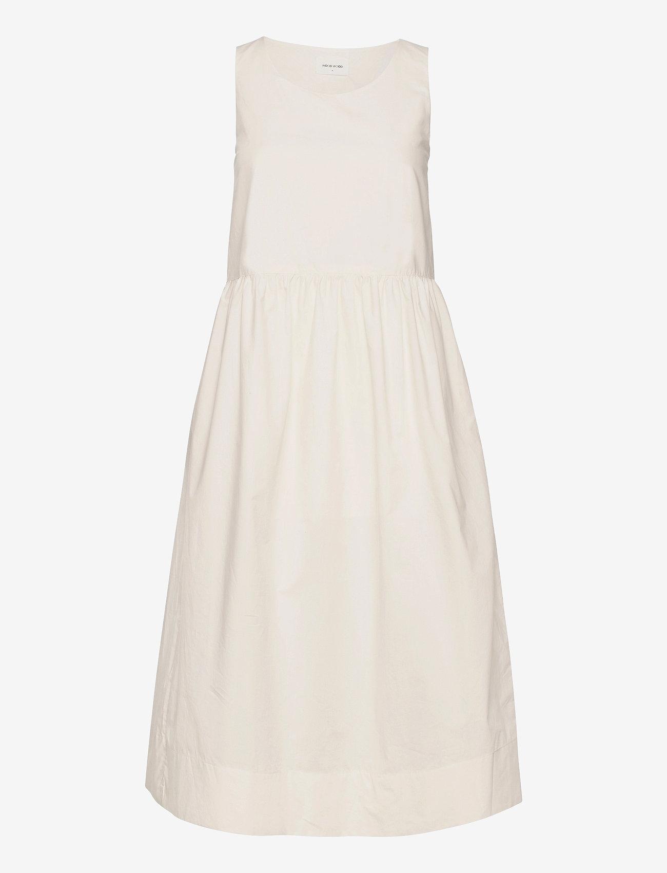 Wood Wood - Tenna poplin dress - sommerkjoler - off-white - 0