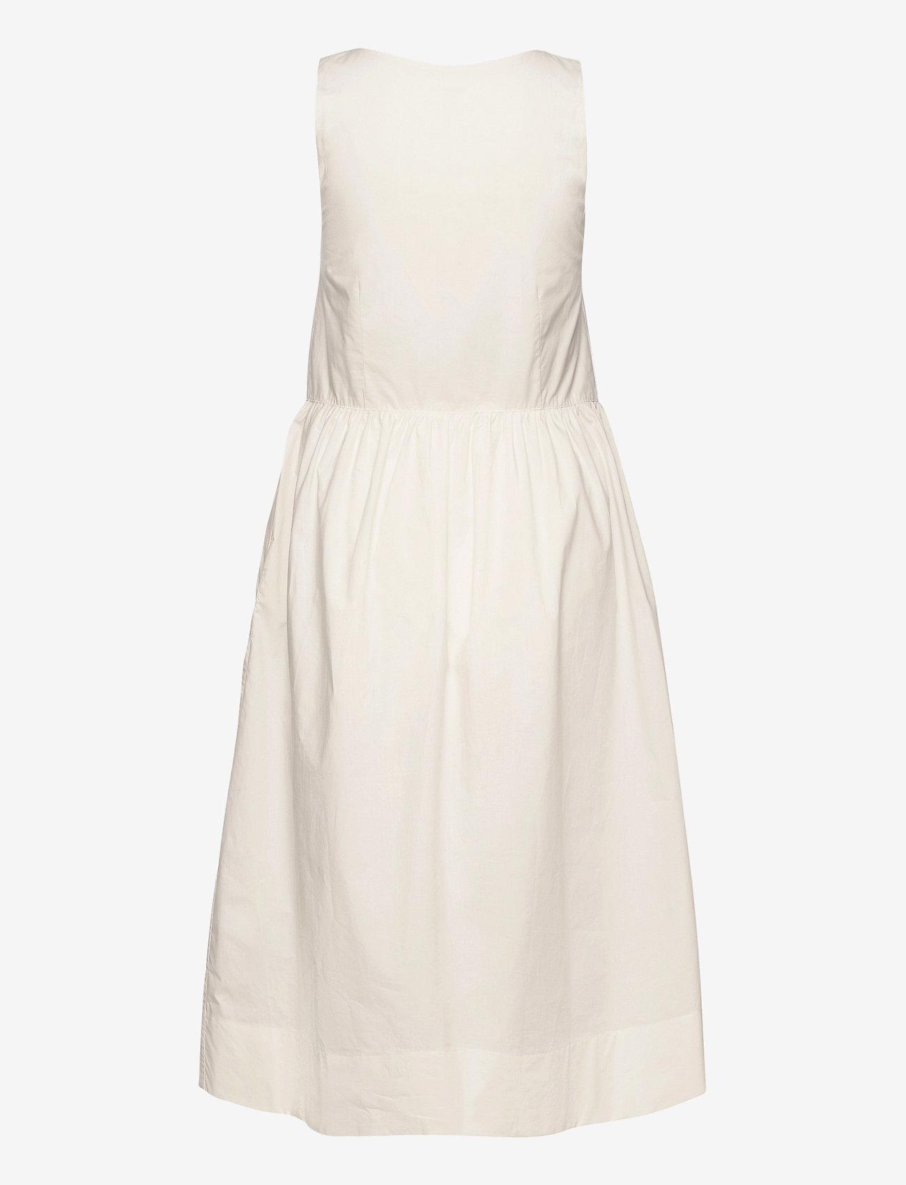 Wood Wood - Tenna poplin dress - sommerkjoler - off-white - 1