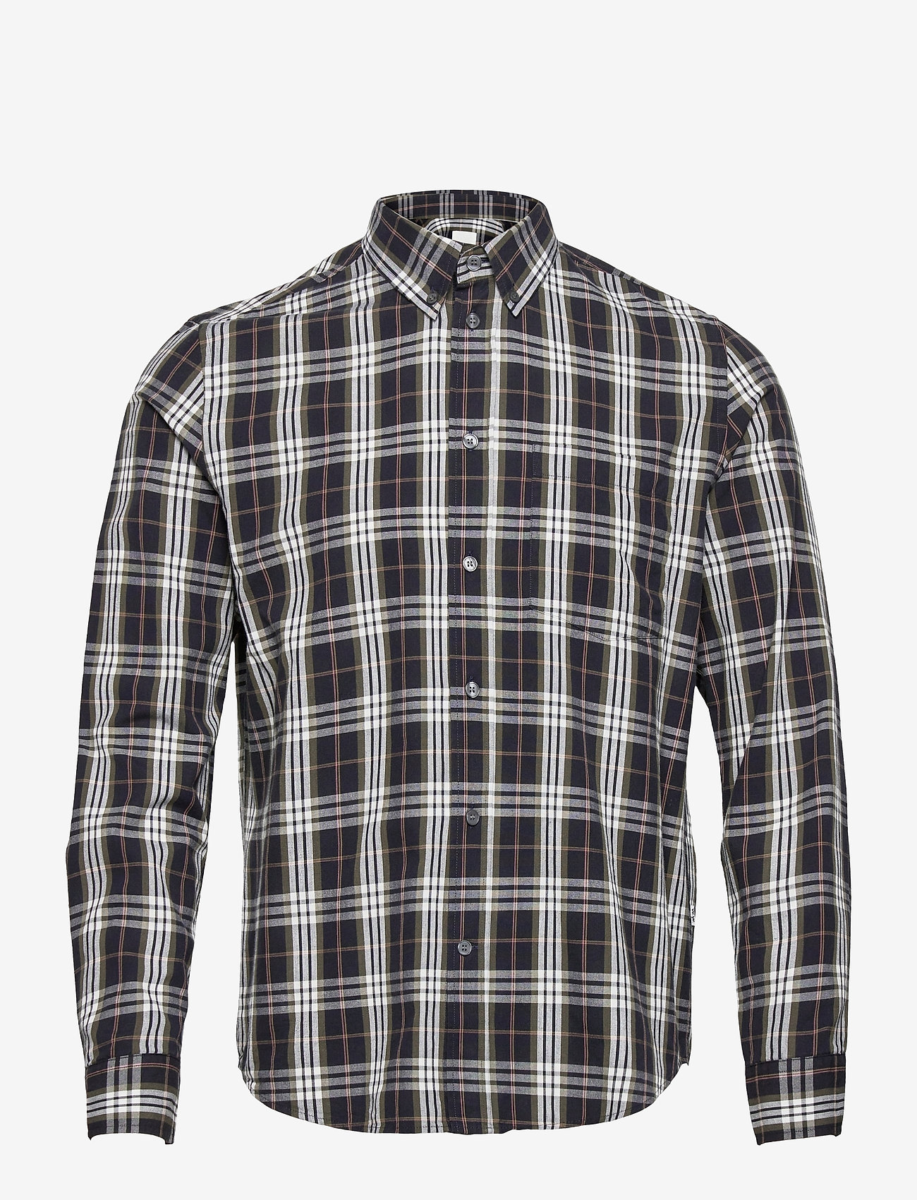 Wood Wood - Andrew flannel shirt - linnen overhemden - olive check - 0