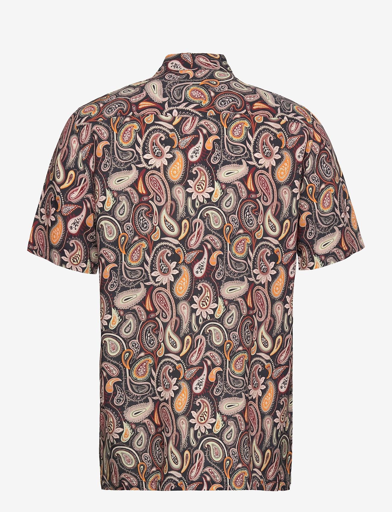 Wood Wood - Thor paisley shirt SS - geruite overhemden - navy aop - 1