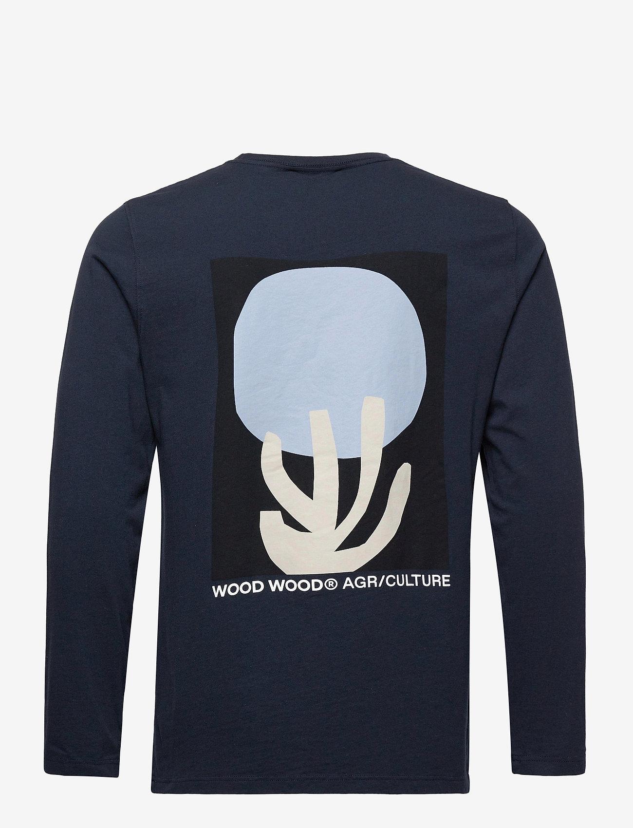 Wood Wood - Peter fruit long sleeve - t-shirts basiques - navy - 1