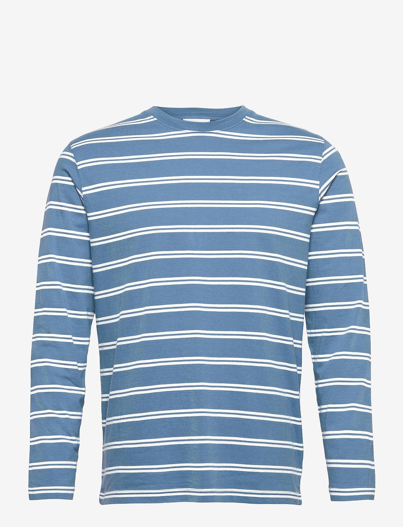 Wood Wood - Peter stripe long sleeve - lange mouwen - blue stripes - 0