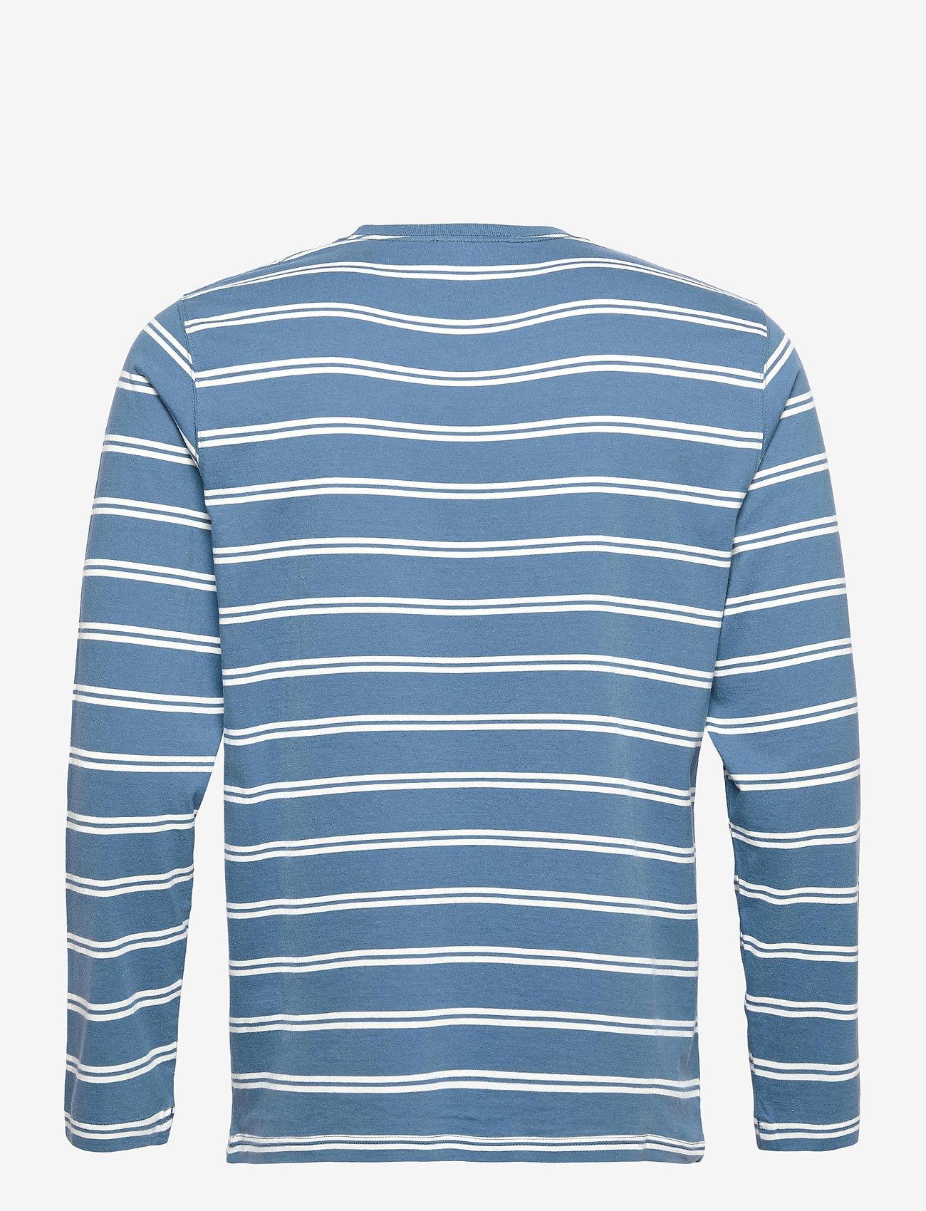 Wood Wood - Peter stripe long sleeve - lange mouwen - blue stripes - 1