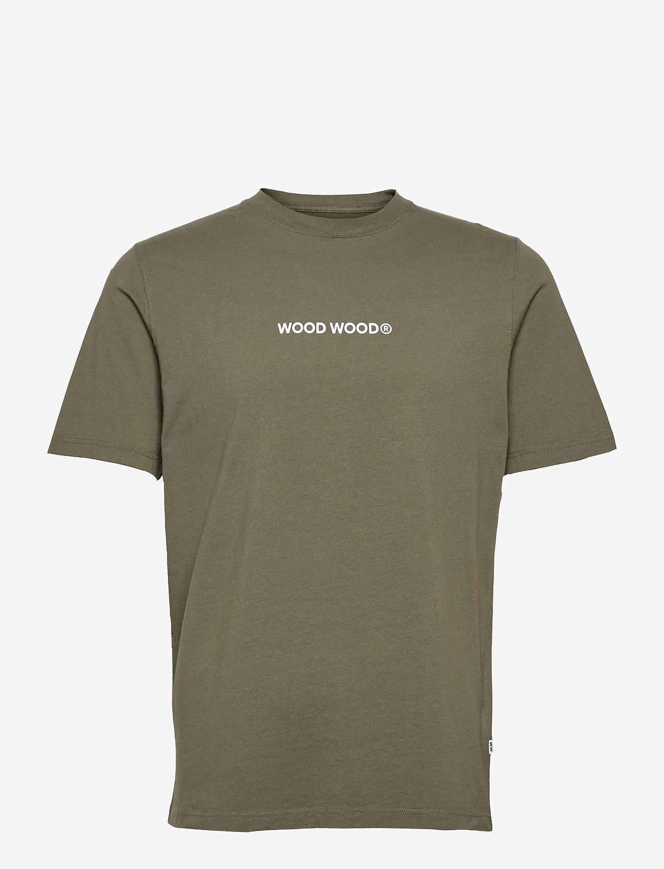 Wood Wood - Sami logo T-shirt - korte mouwen - dusty green - 0