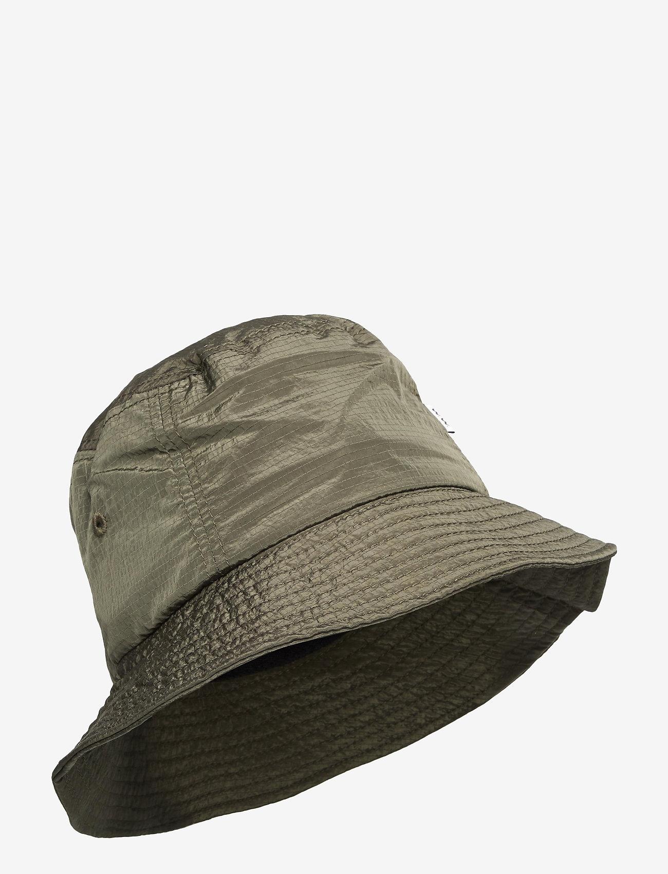 Wood Wood - Nylon bucket hat - bonnets & casquettes - olive - 0