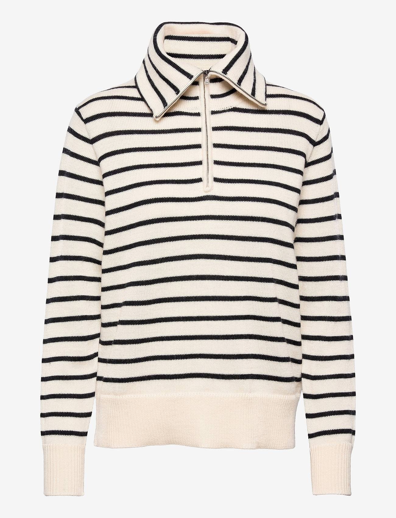 Wood Wood - Clementine classic merino jumper - trøjer - navy/off-white stripes - 0