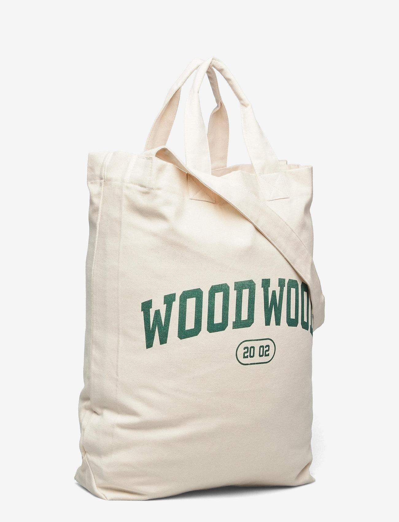 Wood Wood - High canvas shopper - shoppers - dark emerald - 2