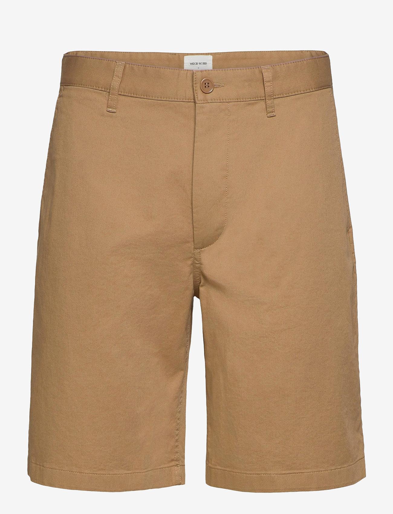 Wood Wood - Jonathan light twill shorts - chino's shorts - khaki - 0