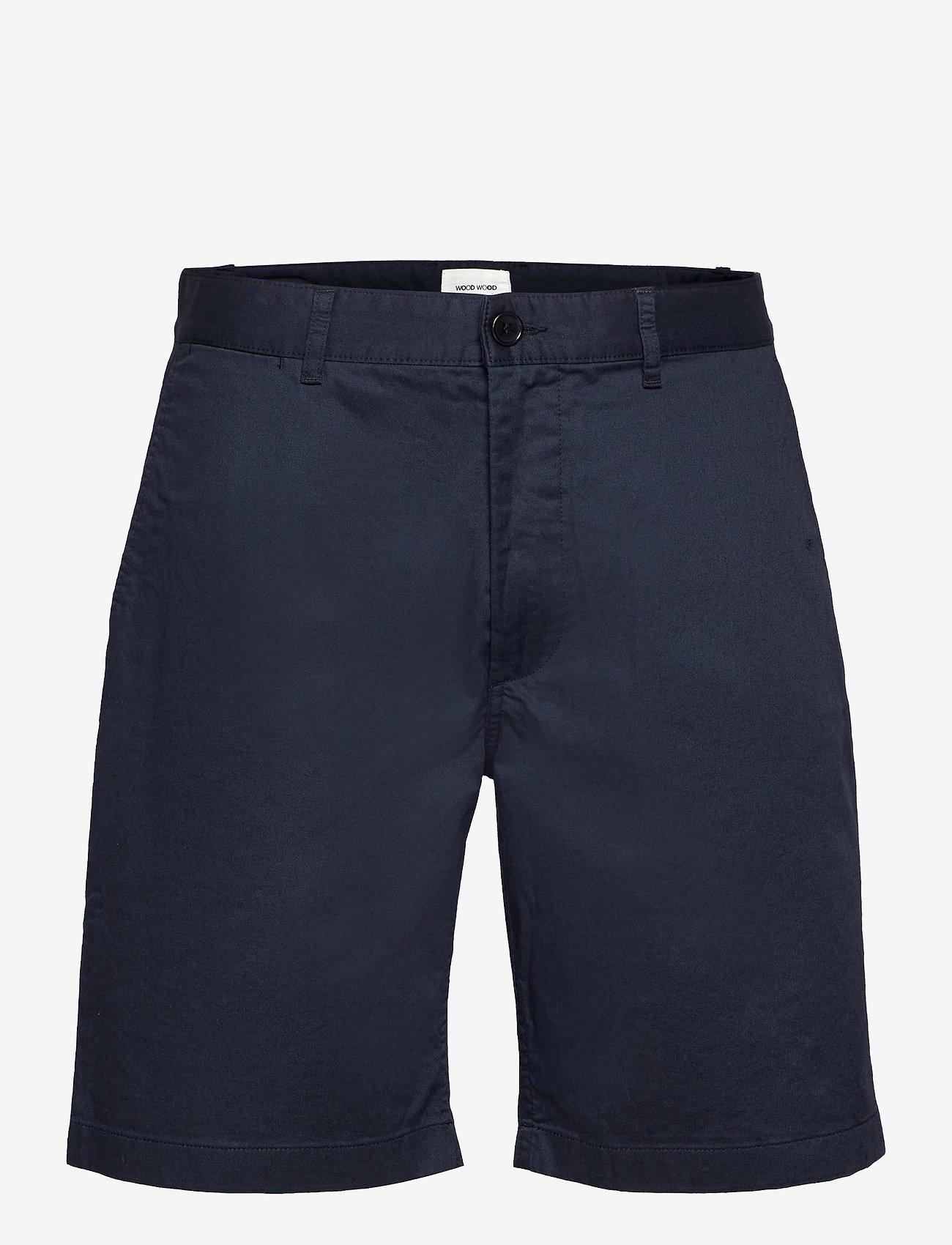 Wood Wood - Jonathan light twill shorts - chino's shorts - navy - 0