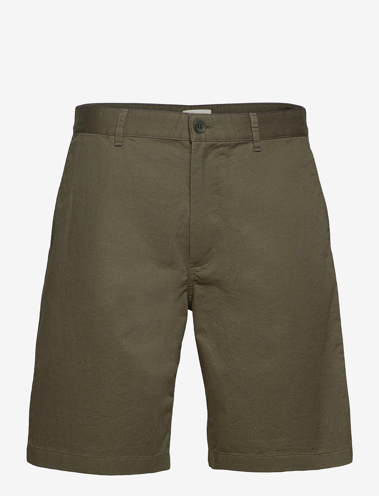 Wood Wood - Jonathan light twill shorts - chino's shorts - olive - 0