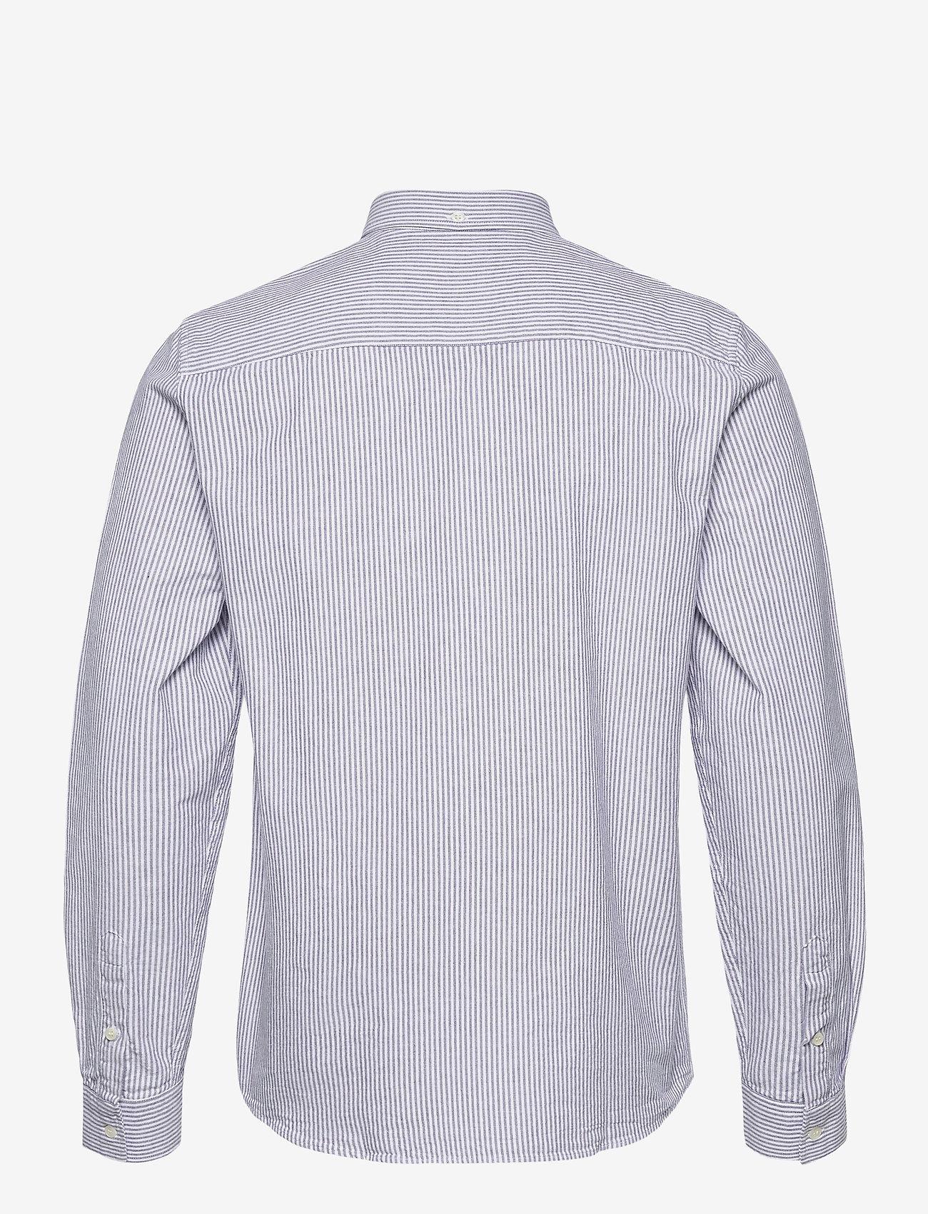 Wood Wood - Adam oxford shirt - linnen overhemden - blue stripes - 1
