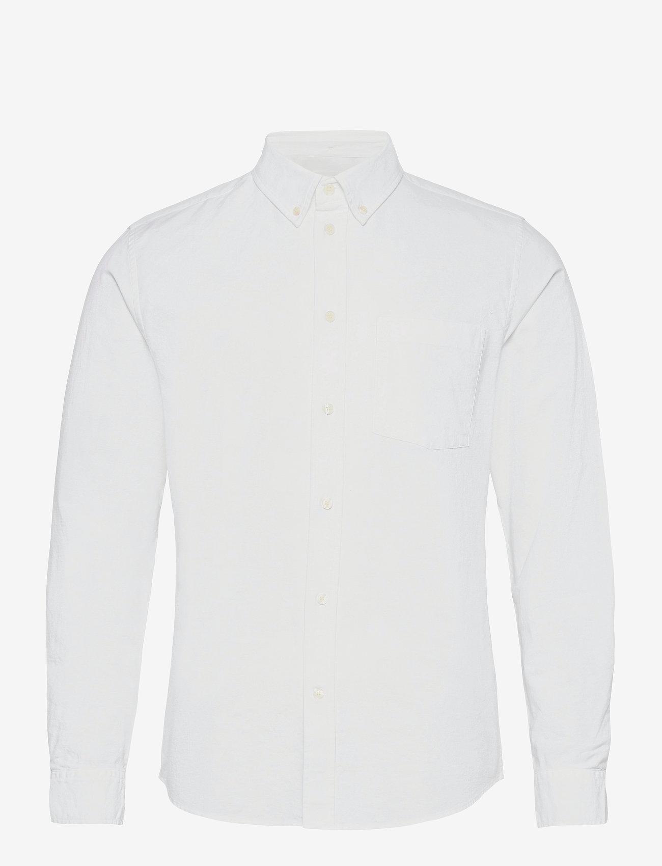 Wood Wood - Adam oxford shirt - linnen overhemden - bright white - 0