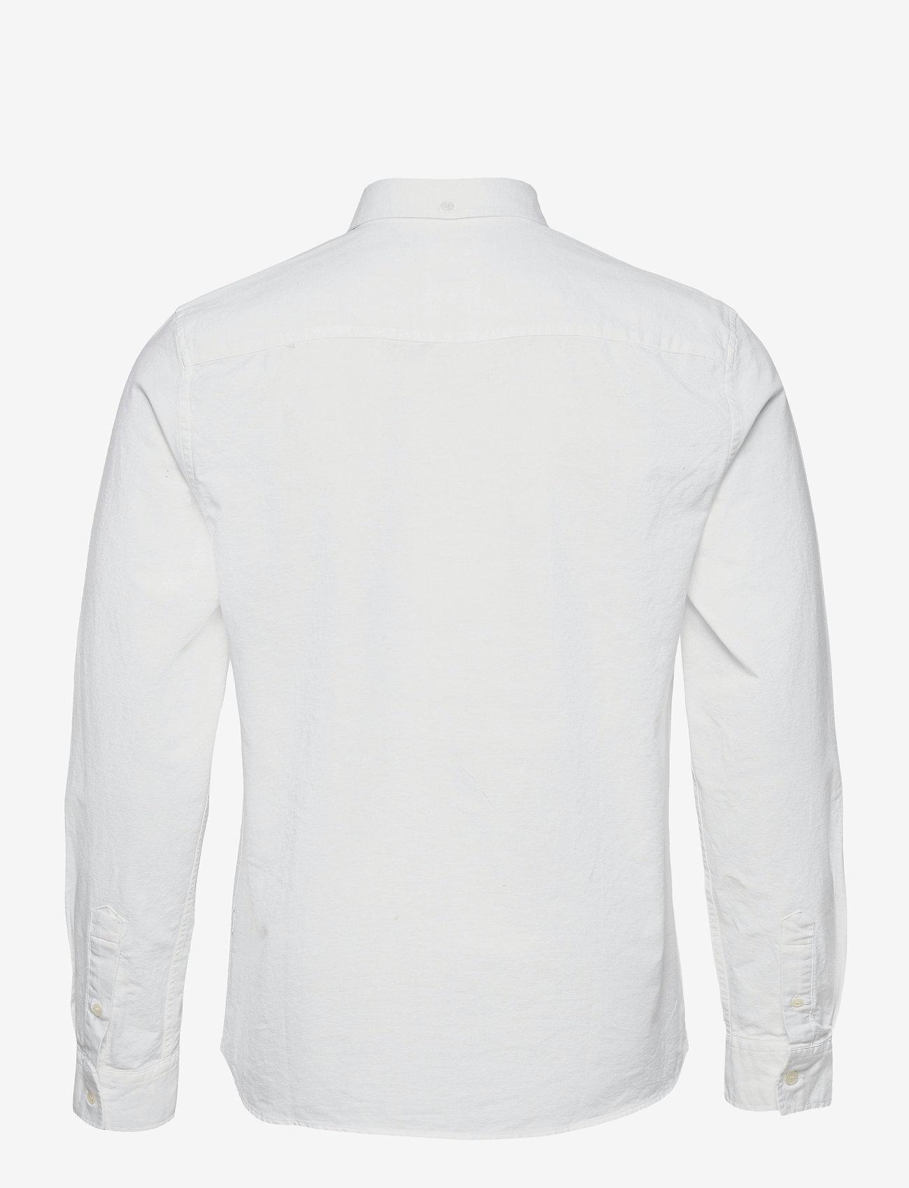 Wood Wood - Adam oxford shirt - linnen overhemden - bright white - 1