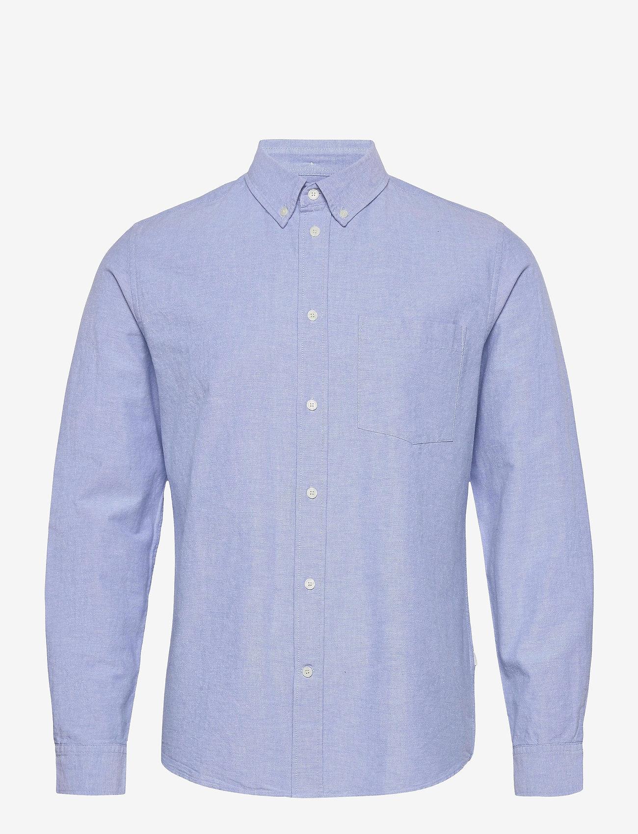 Wood Wood - Adam oxford shirt - linnen overhemden - light blue - 0
