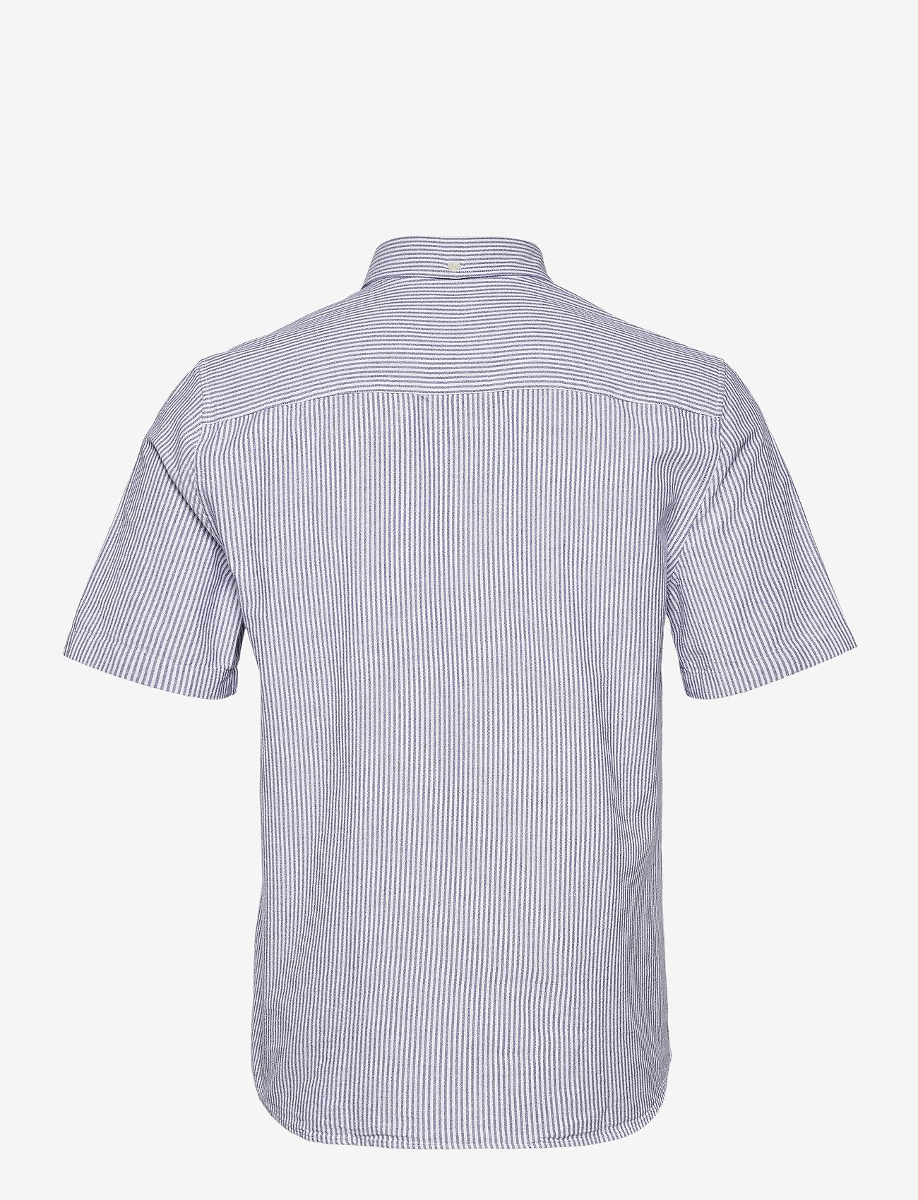 Wood Wood - Michael oxford shirt SS - linnen overhemden - blue stripes - 1