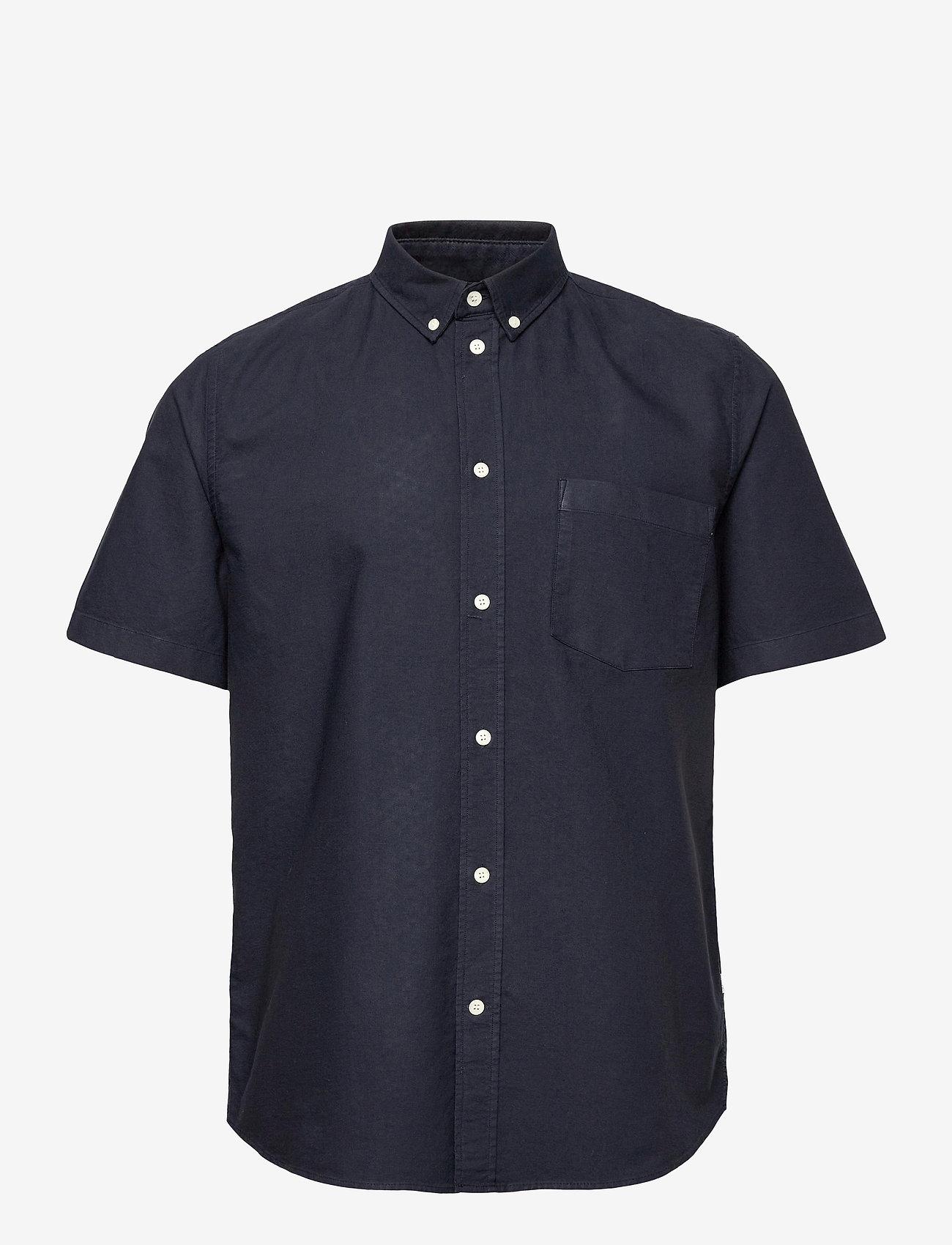 Wood Wood - Michael oxford shirt SS - linnen overhemden - navy - 0