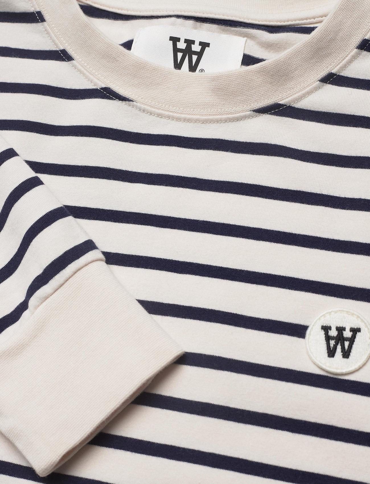 Wood Wood - Isa dress - sommerkjoler - off-white/navy stripes - 2