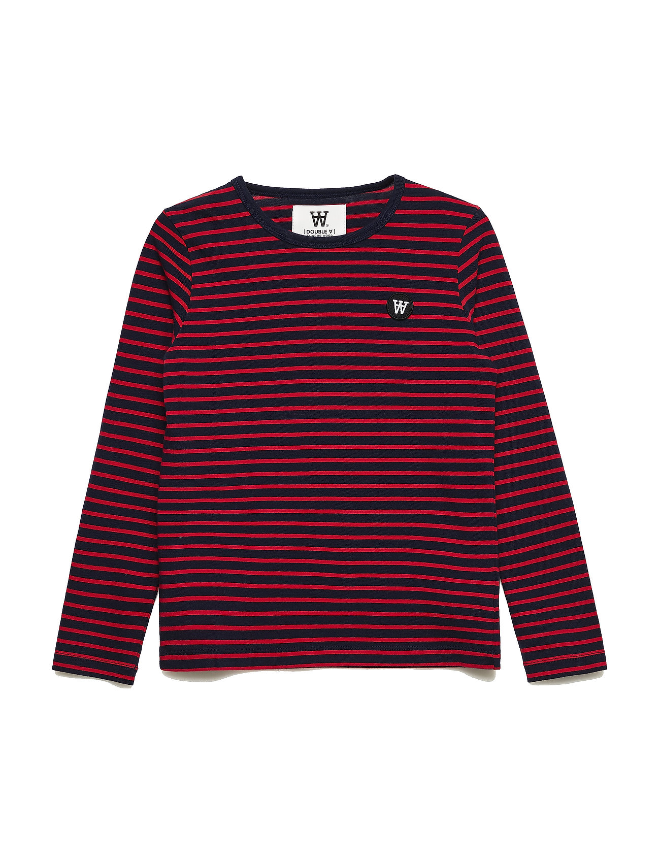 Wood Wood Kim kids long sleeve - NAVY/RED STRIPES