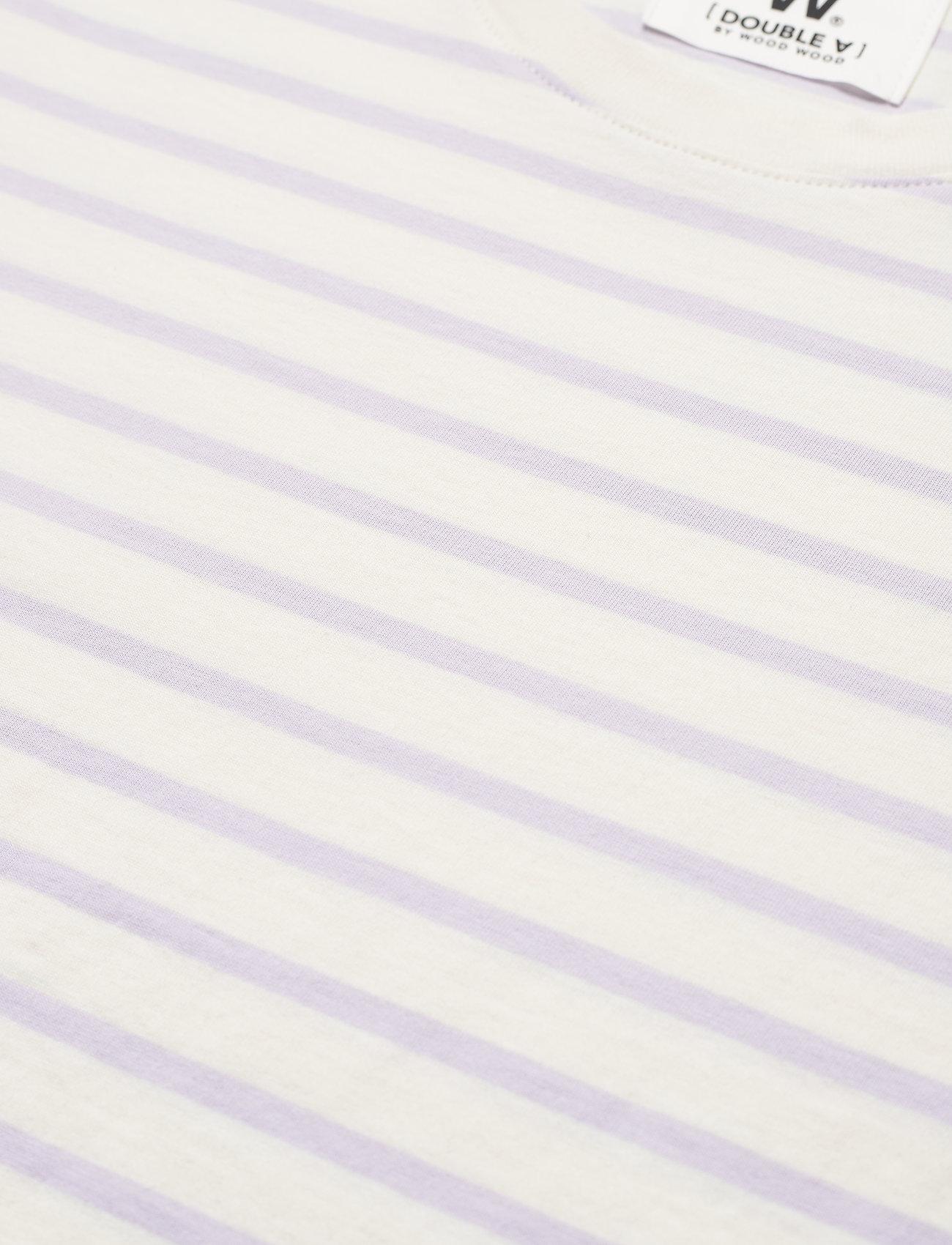 Wood Wood - Mia T-shirt - t-shirts - off-white/lilac stripes - 2