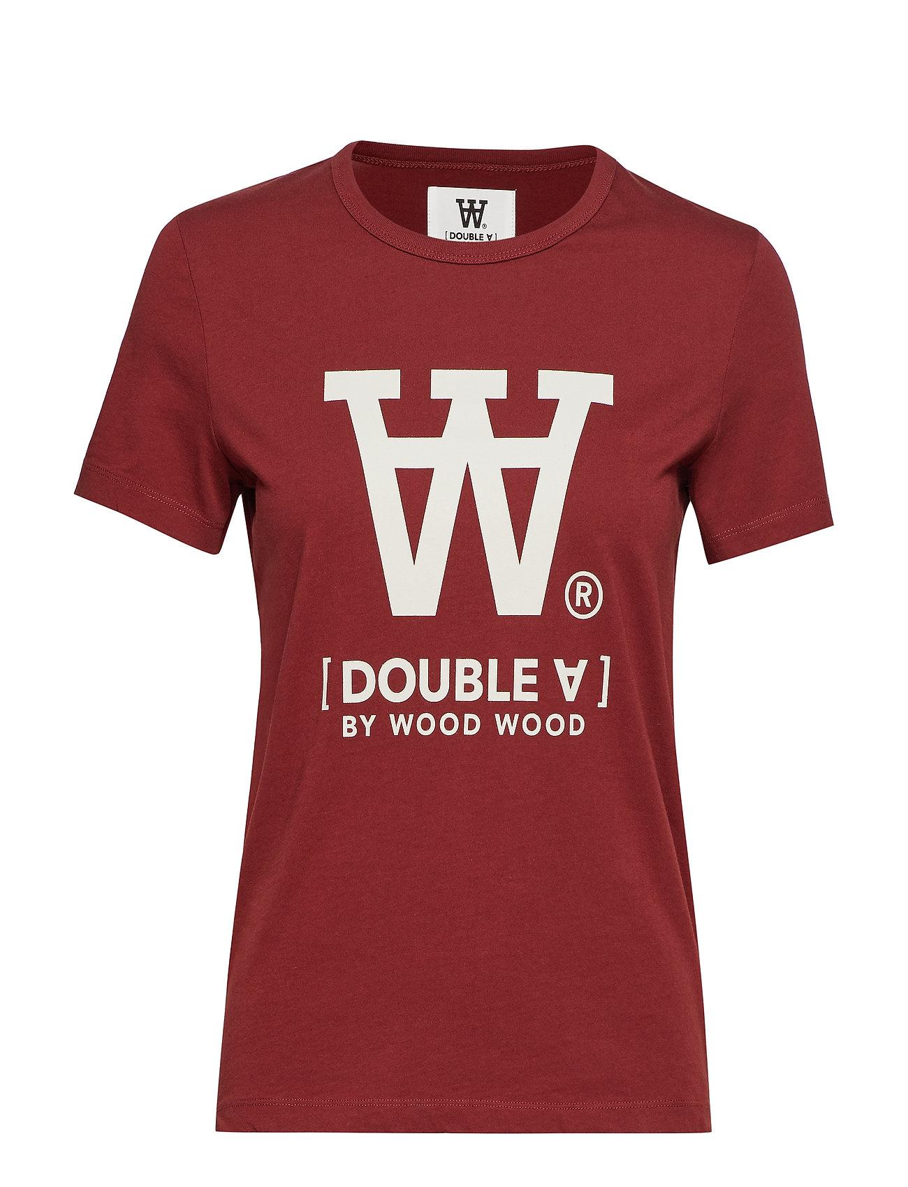 Wood Wood Uma T-shirt - DARK RED