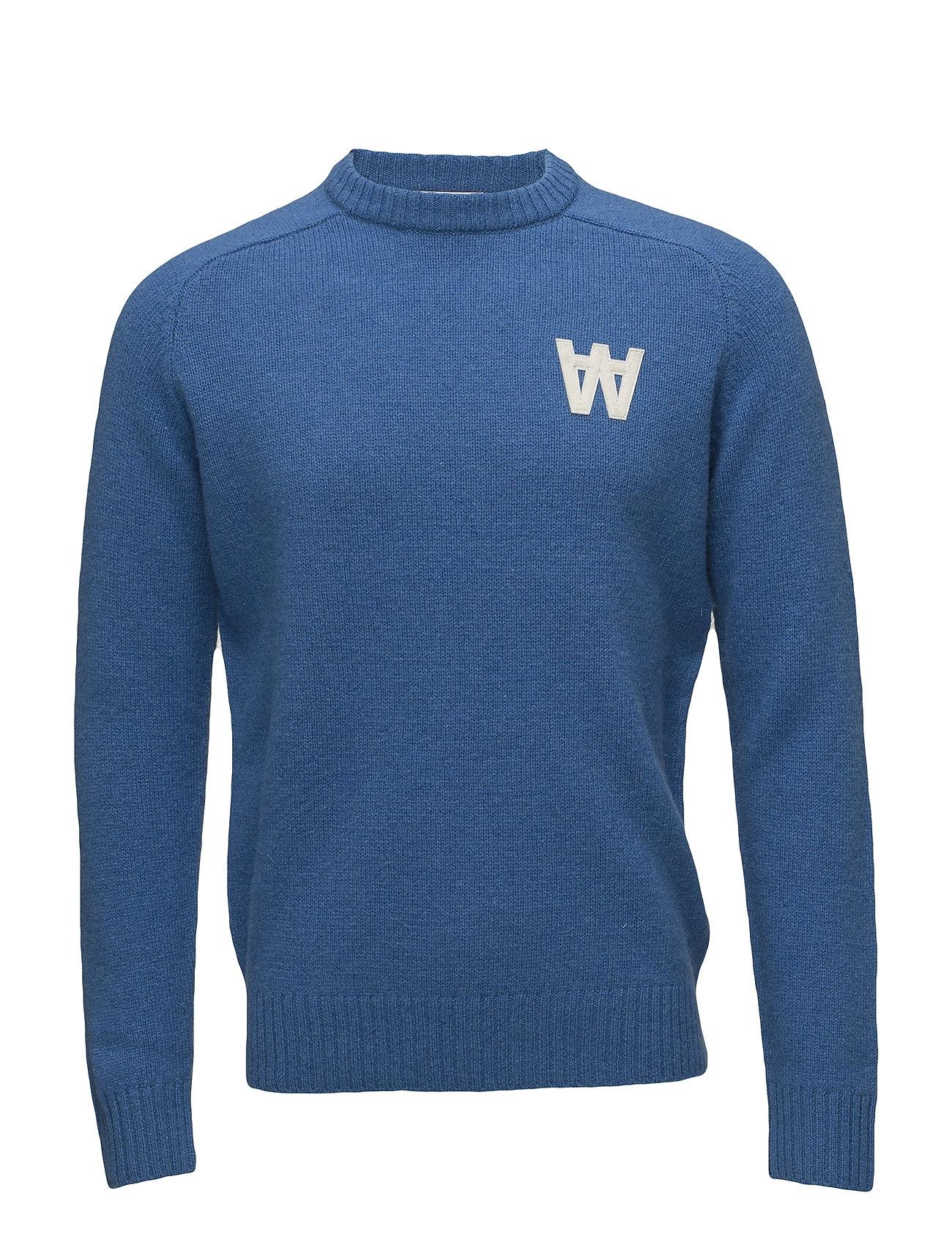 WOOD WOOD Kevin Sweater Strickpullover Rundhals Blau WOOD WOOD