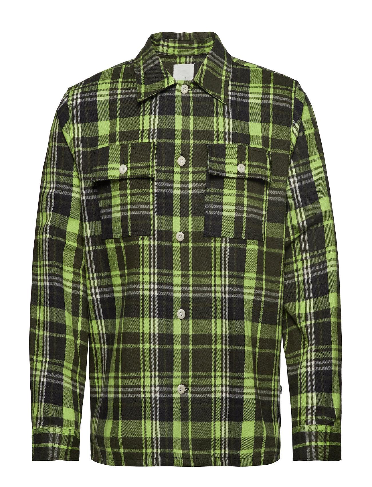 Wood Wood Franco shirt - GREEN CHECK