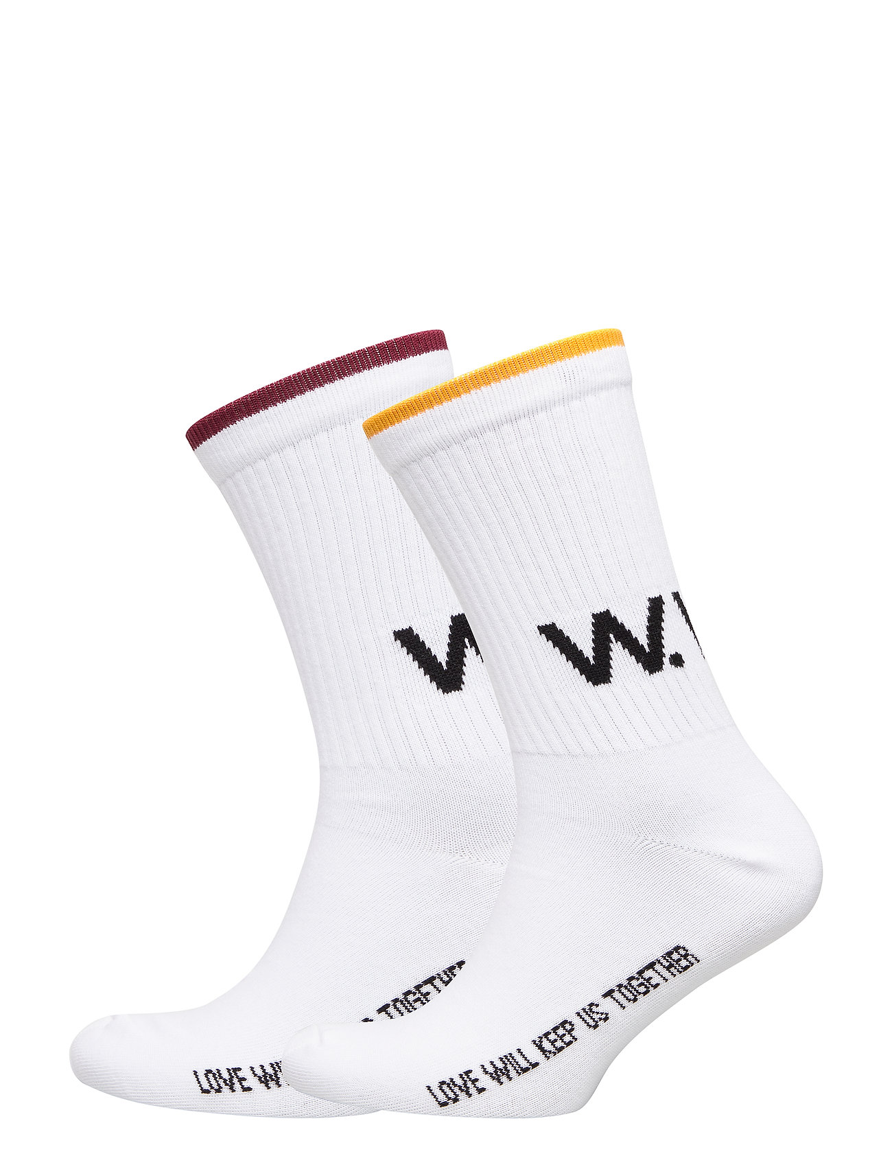 Wood Wood Gail 2-pack socks - BRIGHT WHITE STRIPE