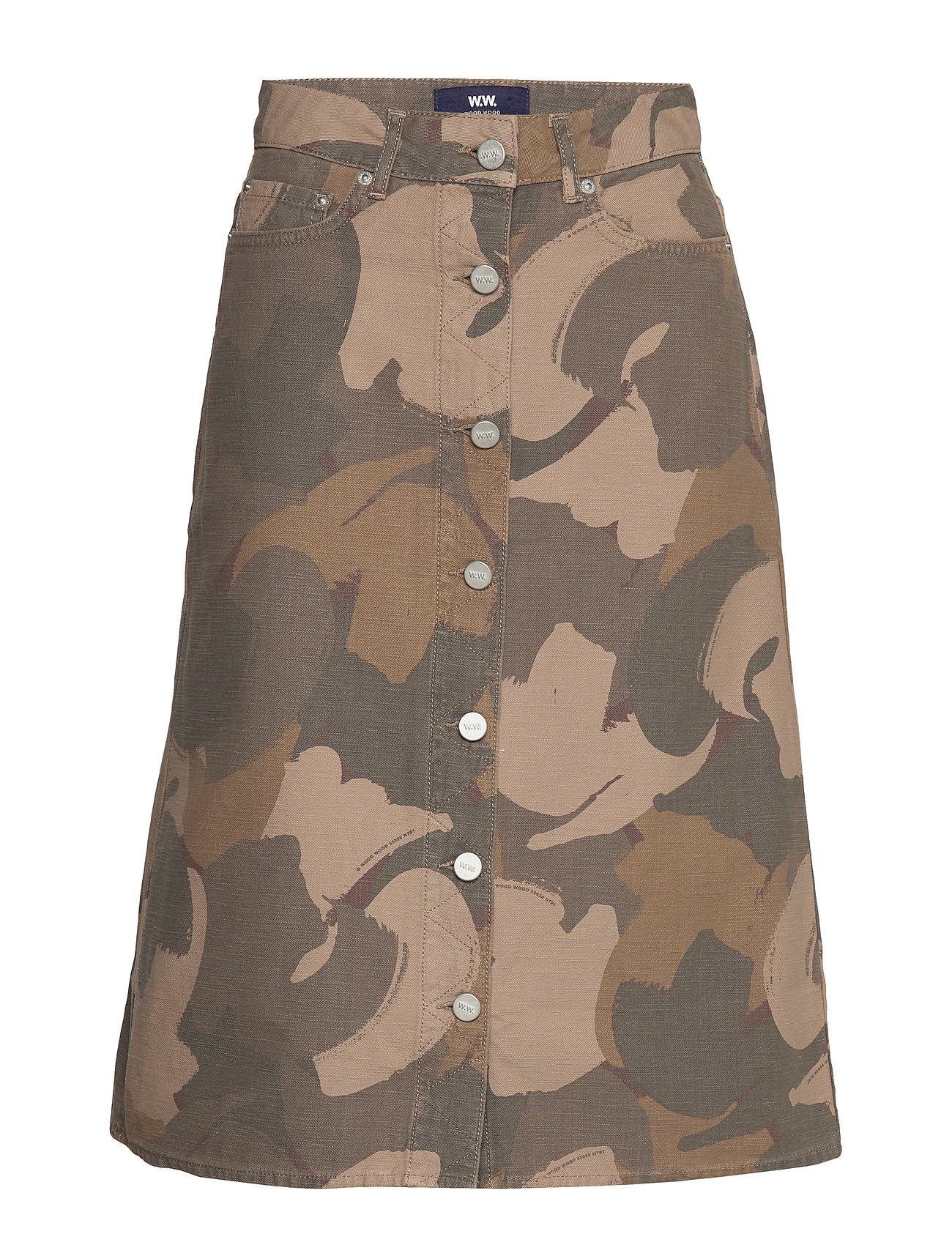 Wood Wood Grit skirt - BRUSH CAMO AOP