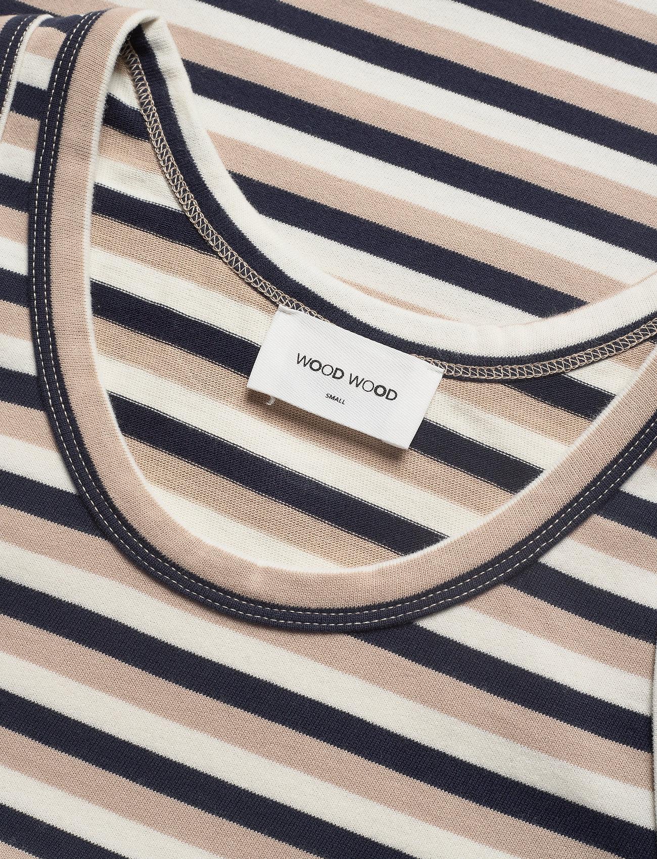 Wood Wood Mila top - T-shirty i zopy OFF-WHITE STRIPES - Kobiety Odzież.