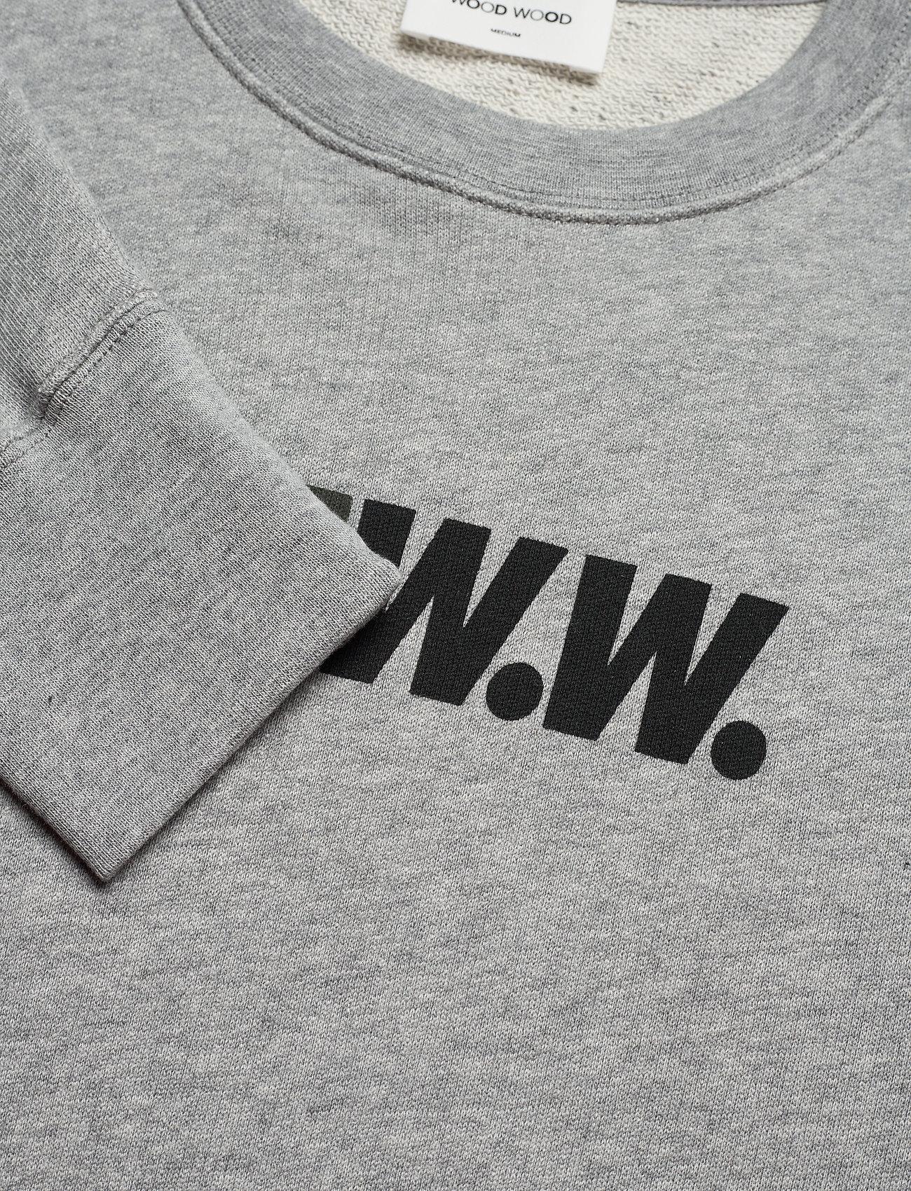 Hugh Sweatshirt (Grey Melange) (77 €) - Wood Wood 415xQ