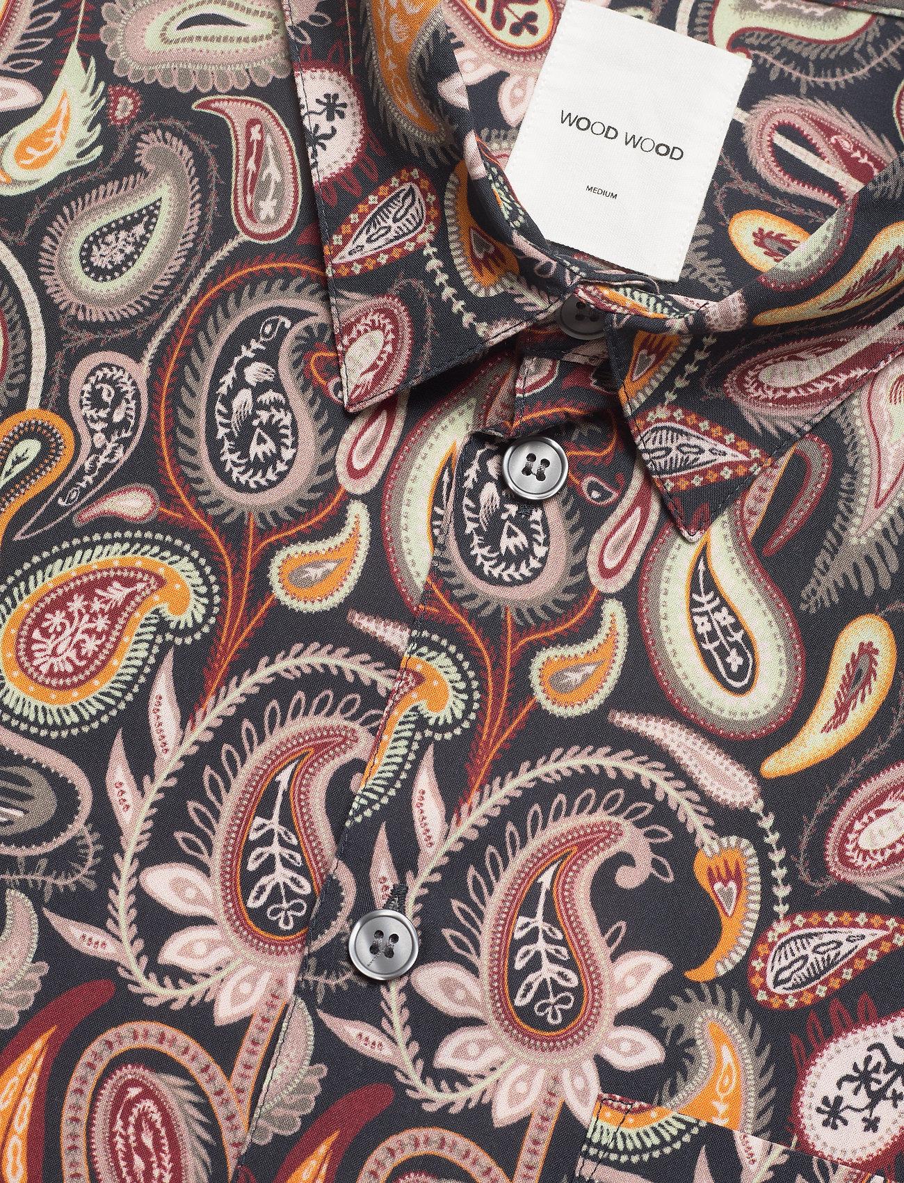 Wood Wood - Thor paisley shirt SS - geruite overhemden - navy aop - 2
