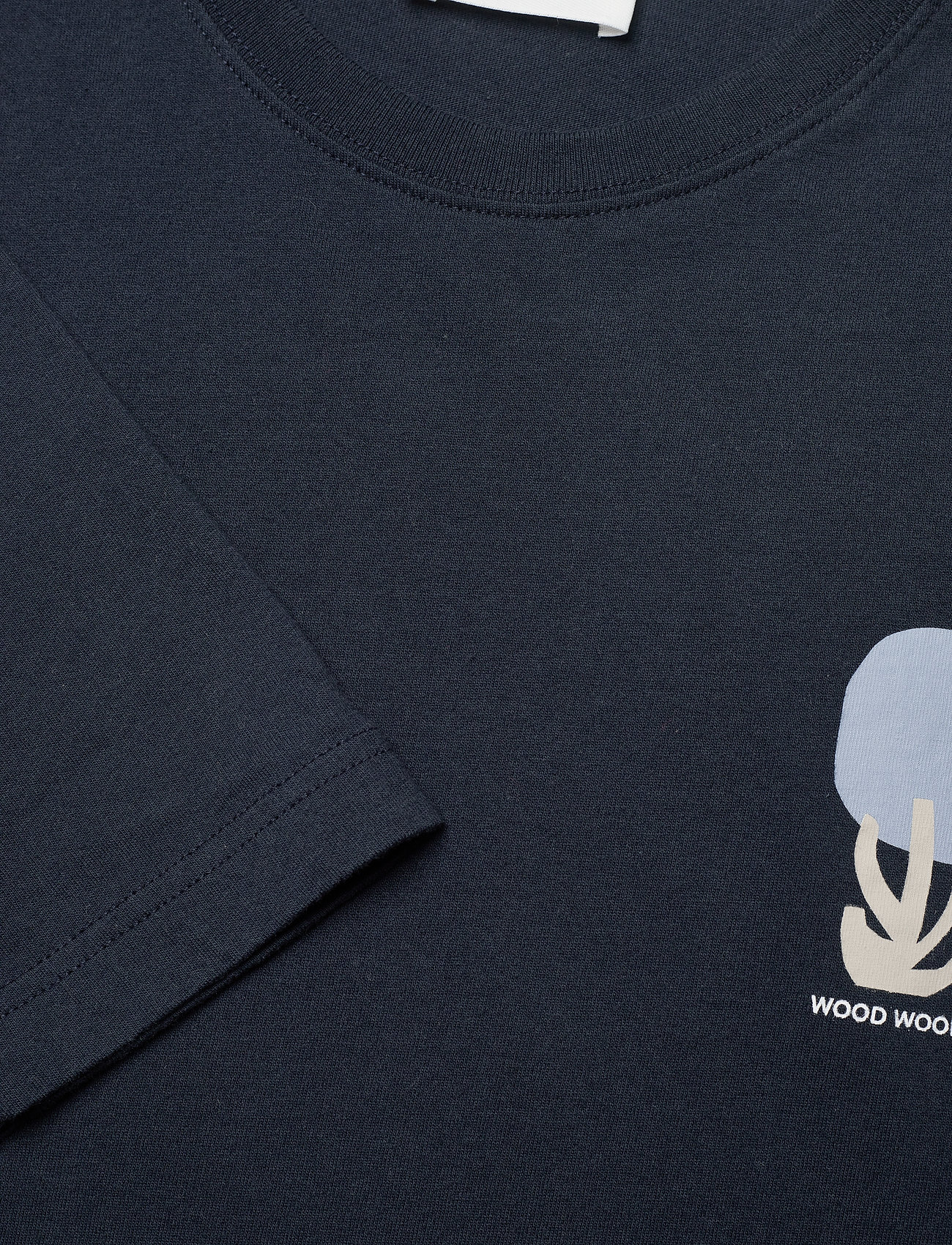 Wood Wood - Peter fruit long sleeve - t-shirts basiques - navy - 2