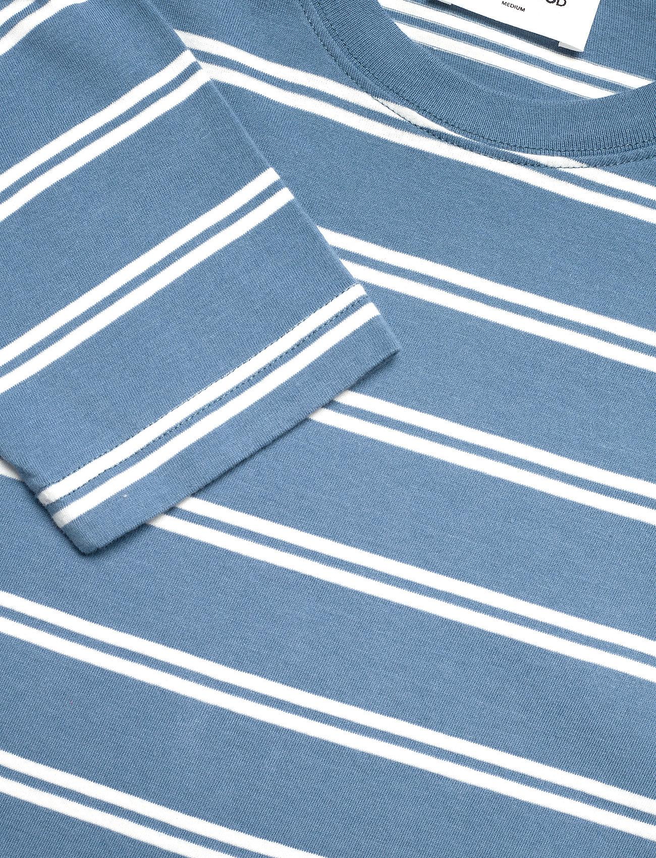 Wood Wood - Peter stripe long sleeve - lange mouwen - blue stripes - 2