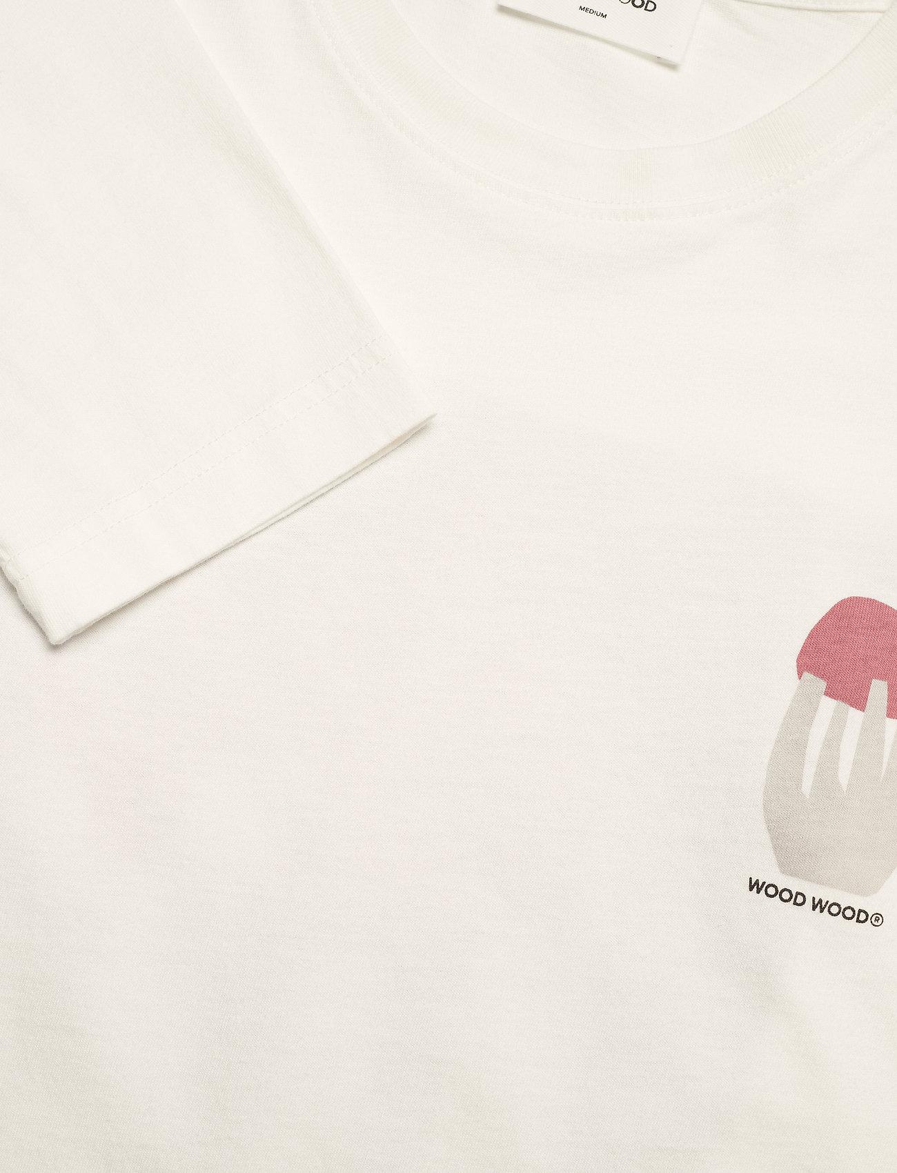 Wood Wood - Peter shroom long sleeve - t-shirts basiques - off-white - 2