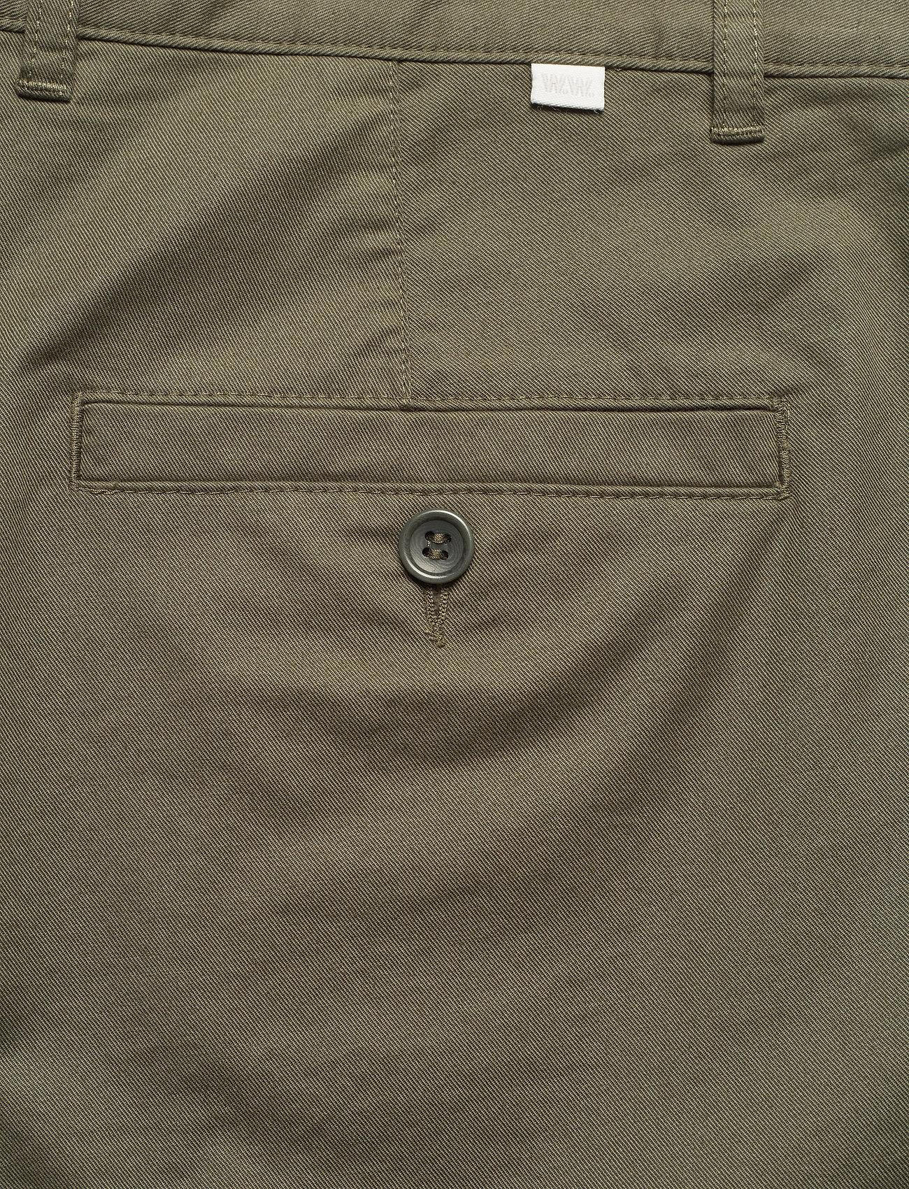 Wood Wood - Jonathan light twill shorts - chino's shorts - olive - 4