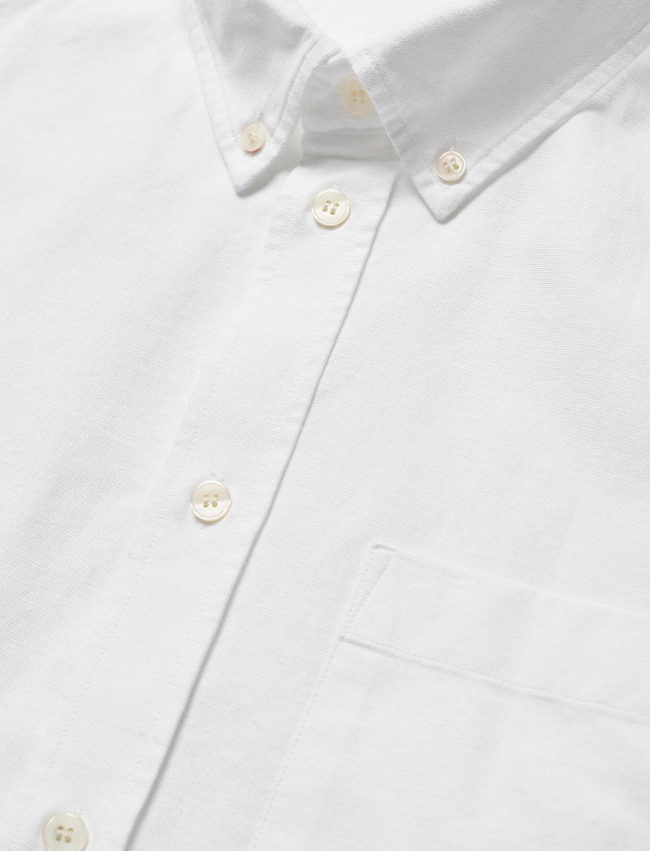 Wood Wood - Adam oxford shirt - linnen overhemden - bright white - 3