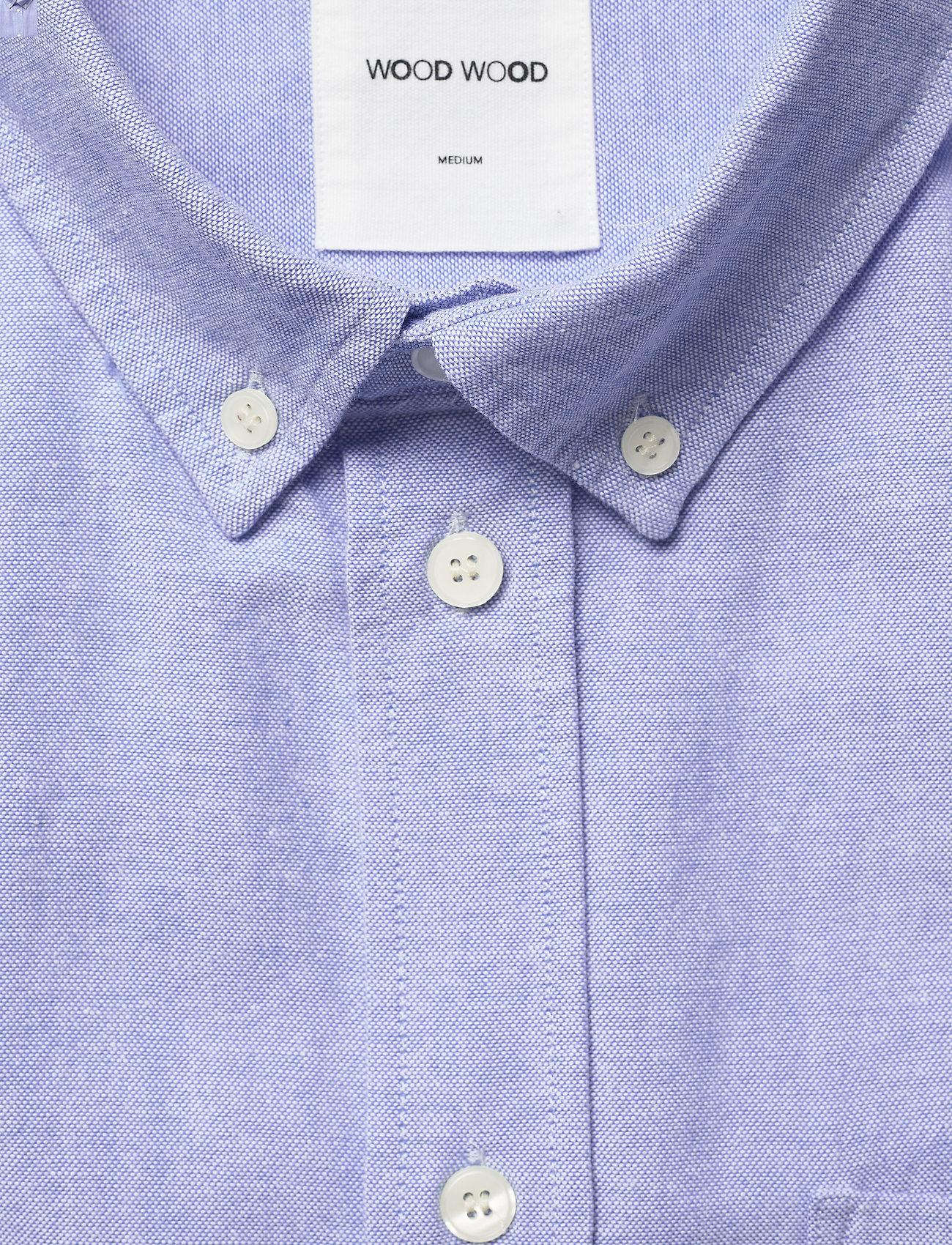 Wood Wood - Adam oxford shirt - linnen overhemden - light blue - 2