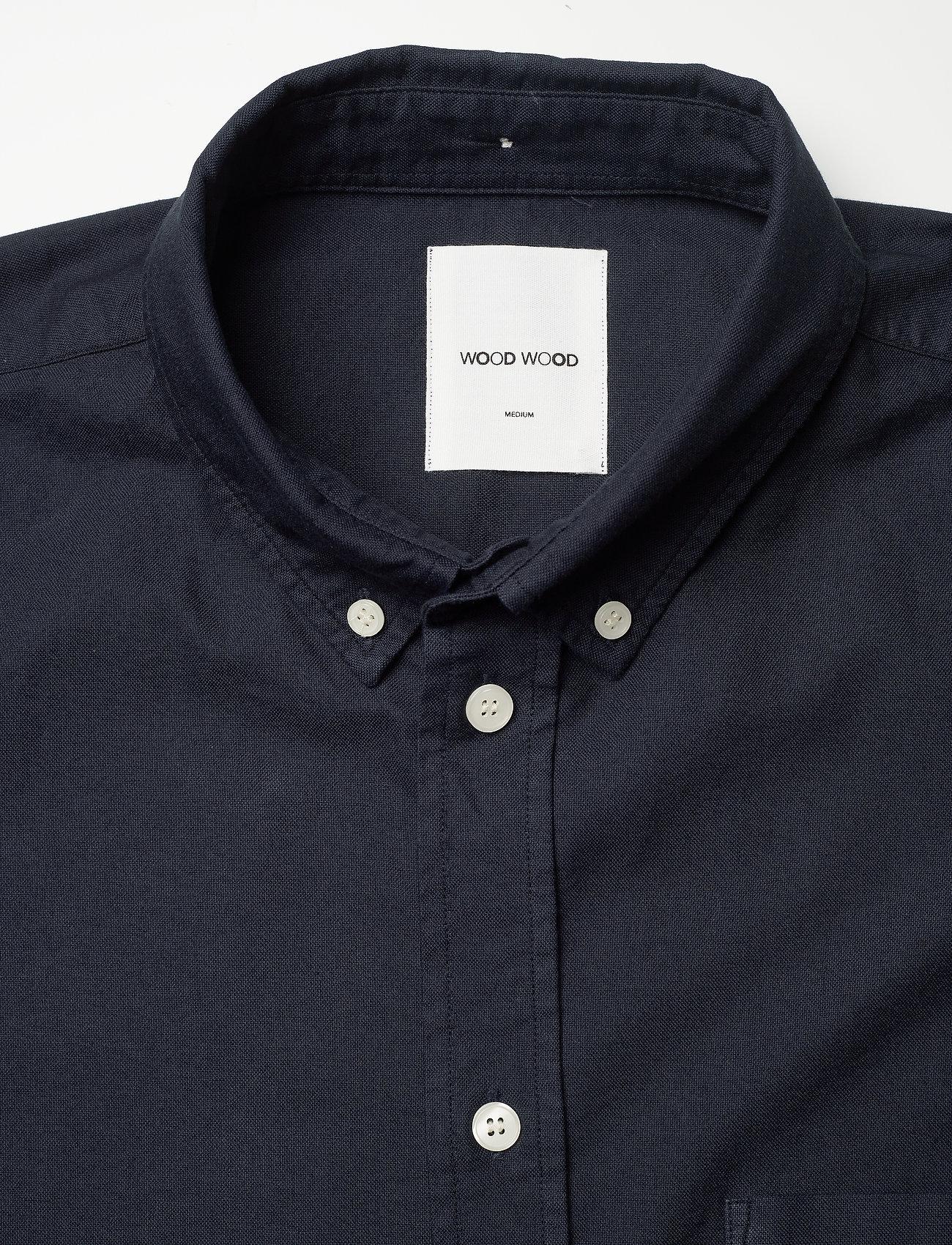 Wood Wood - Adam oxford shirt - linnen overhemden - navy - 2