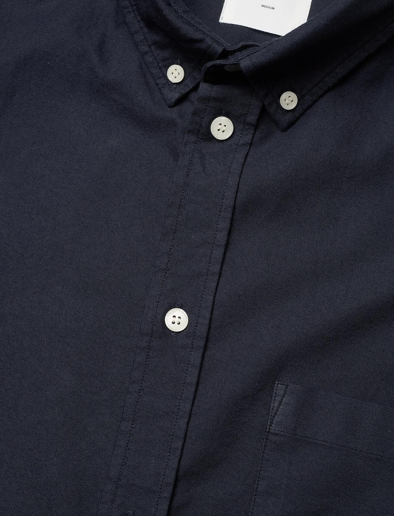 Wood Wood - Adam oxford shirt - linnen overhemden - navy - 3