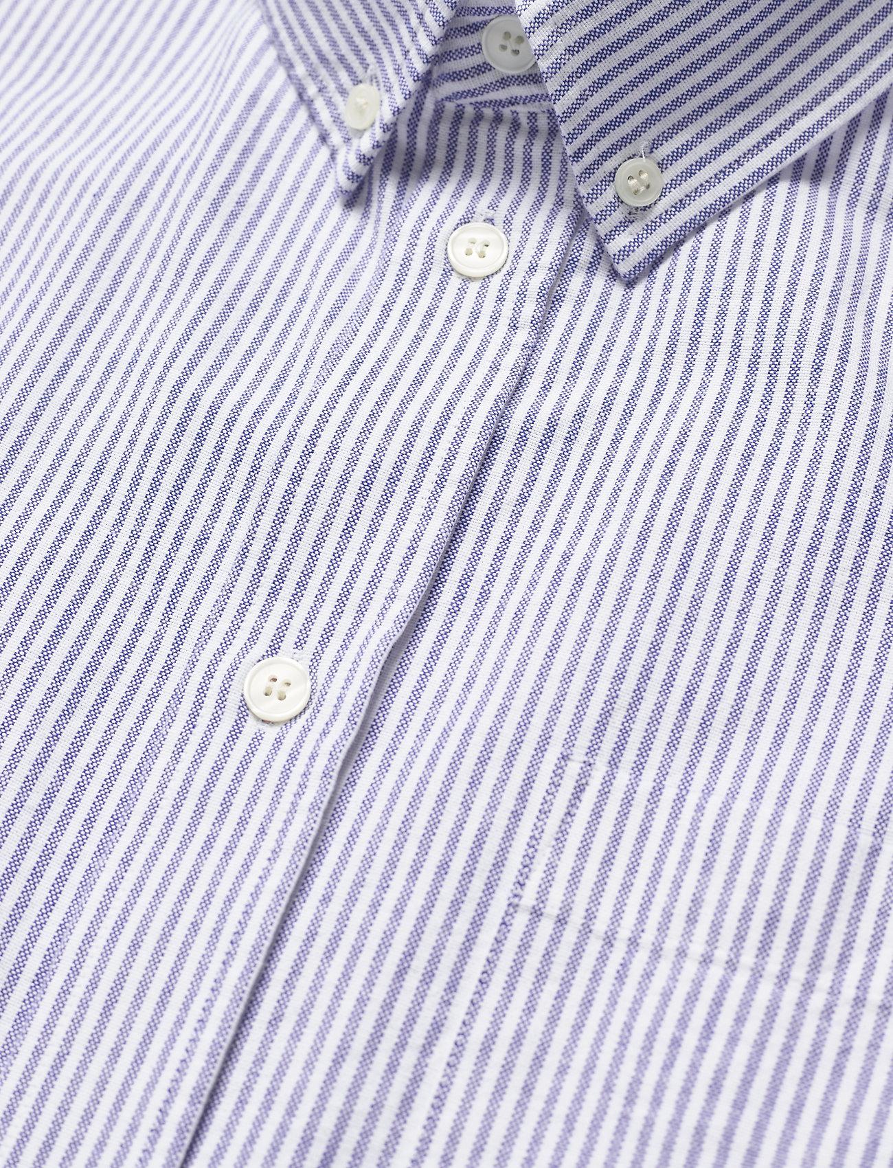 Wood Wood - Michael oxford shirt SS - linnen overhemden - blue stripes - 3