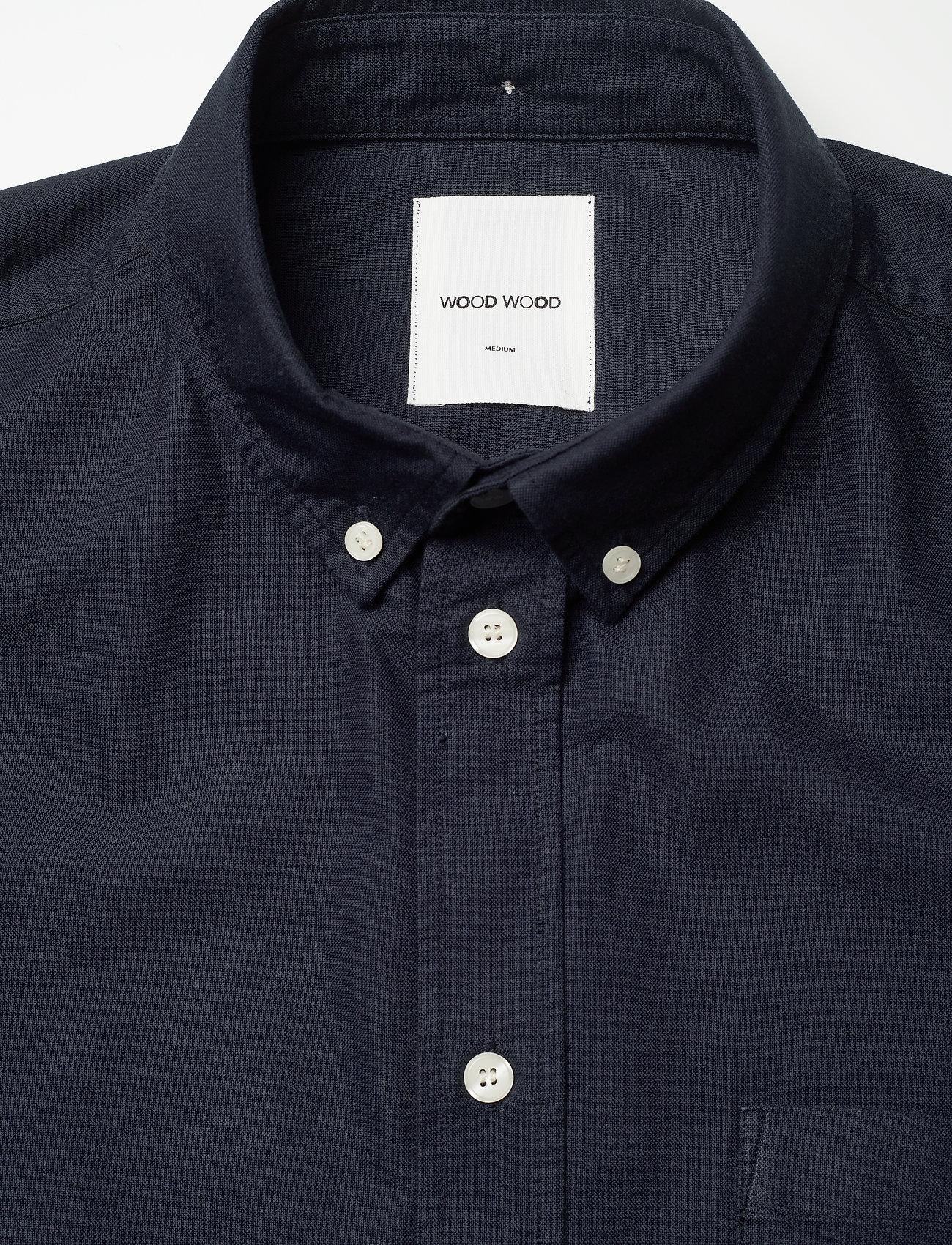 Wood Wood - Michael oxford shirt SS - linnen overhemden - navy - 2