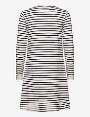 Wood Wood - Isa dress - sommerkjoler - off-white/navy stripes - 1