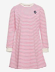 Wood Wood - Aya kids dress - kleider - off-white/pink stripes - 0